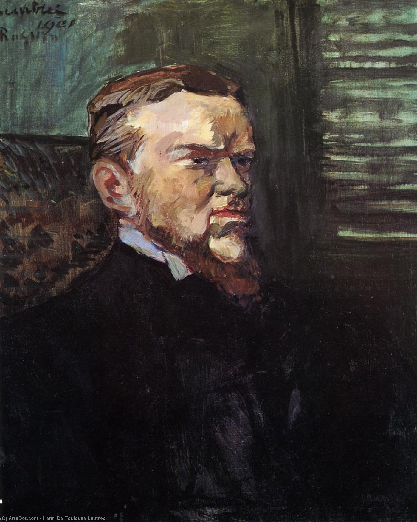 Portrait of Octave Raquin, Oil On Canvas by Henri De Toulouse Lautrec (1864-1901, France)