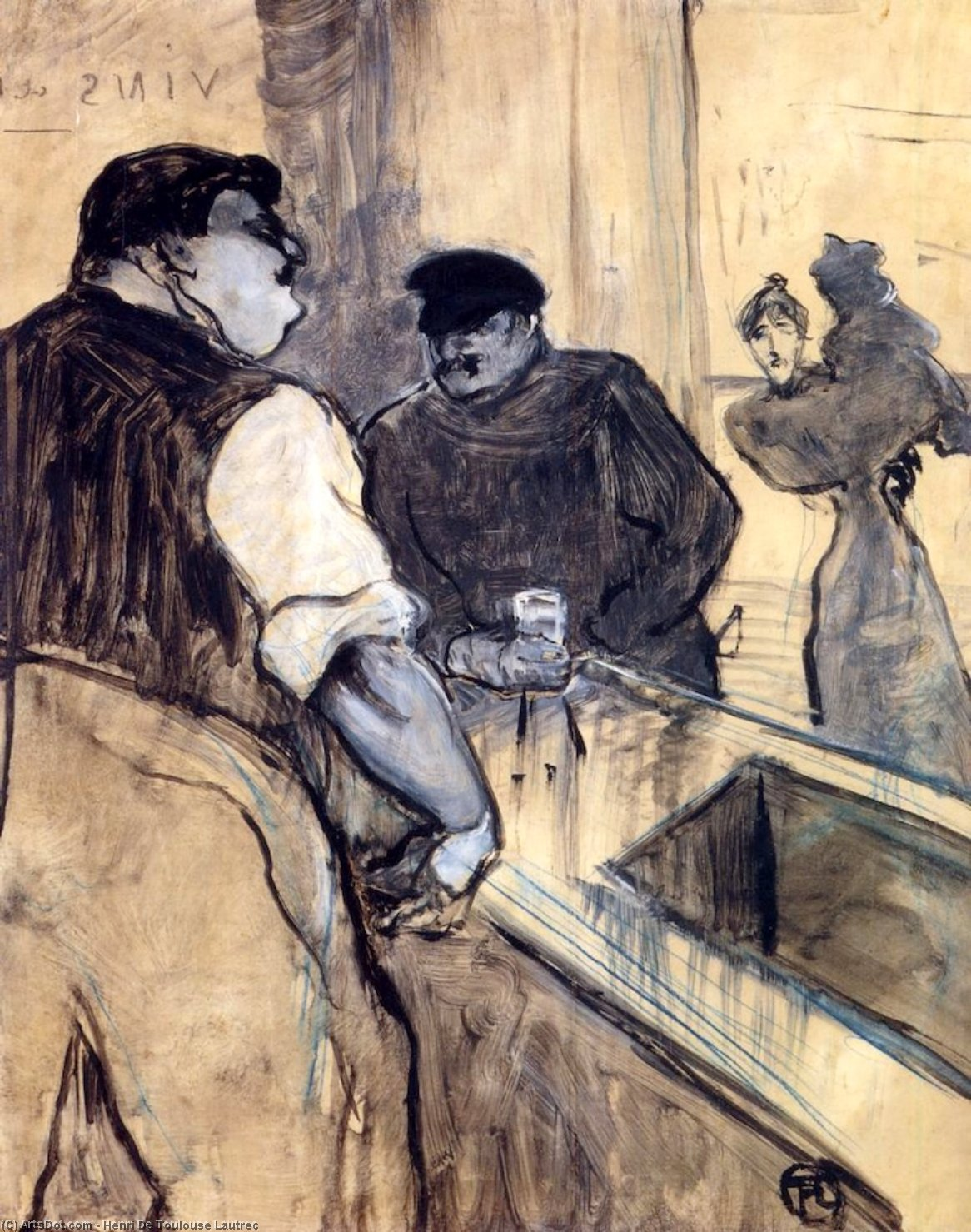 The Bartender, 1900 by Henri De Toulouse Lautrec (1864-1901, France)