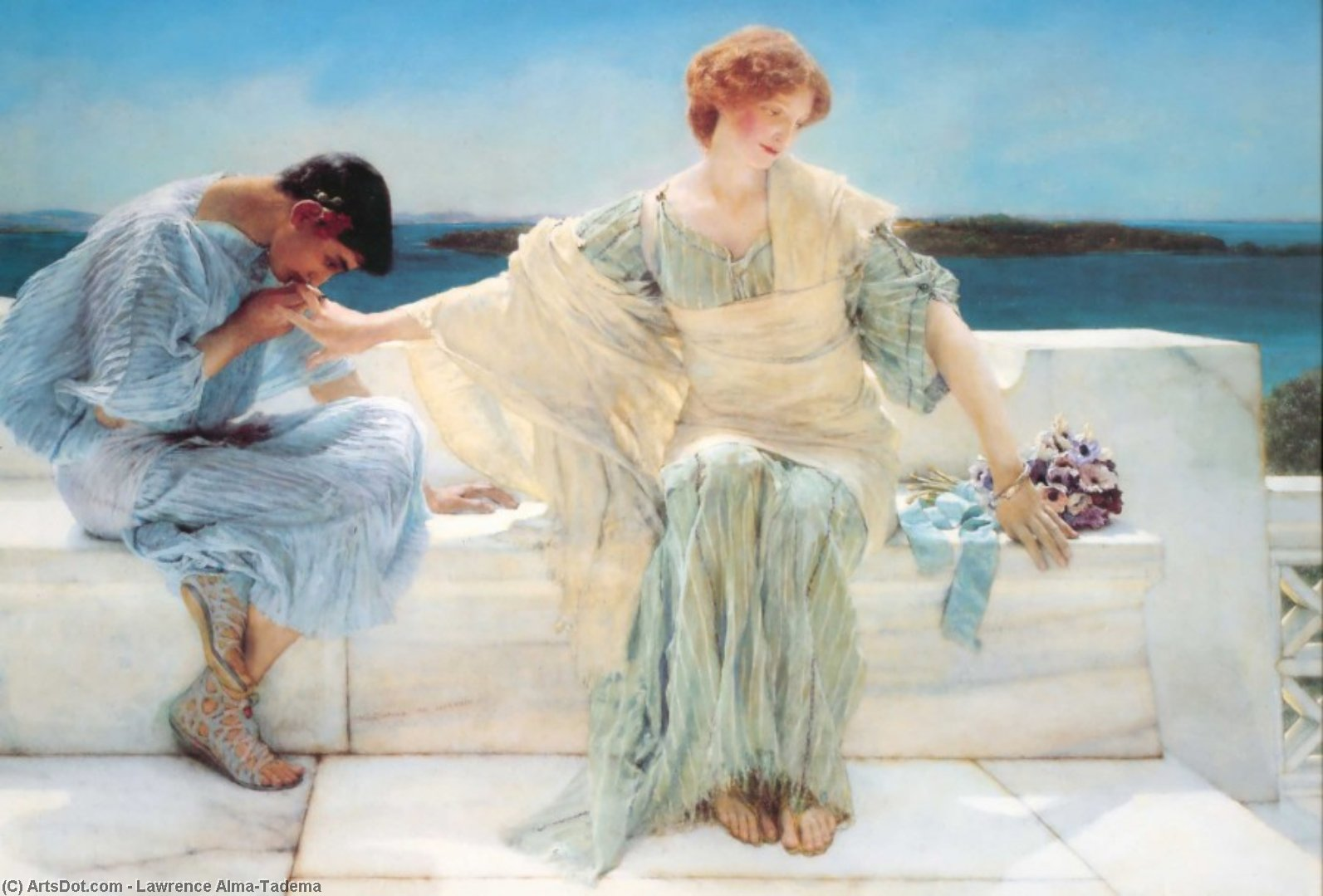Ask Me No More, 1906 by Lawrence Alma-Tadema (1836-1912, Netherlands) | Museum Art Reproductions | ArtsDot.com