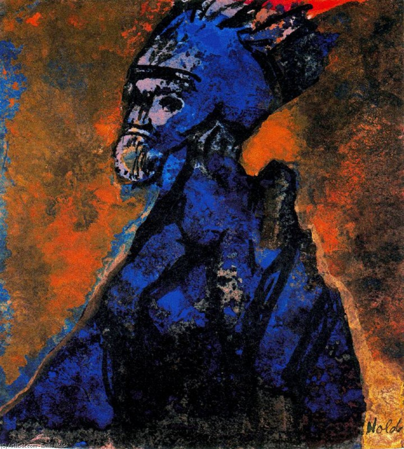 Old King by Emile Nolde (1867-1956, Germany)