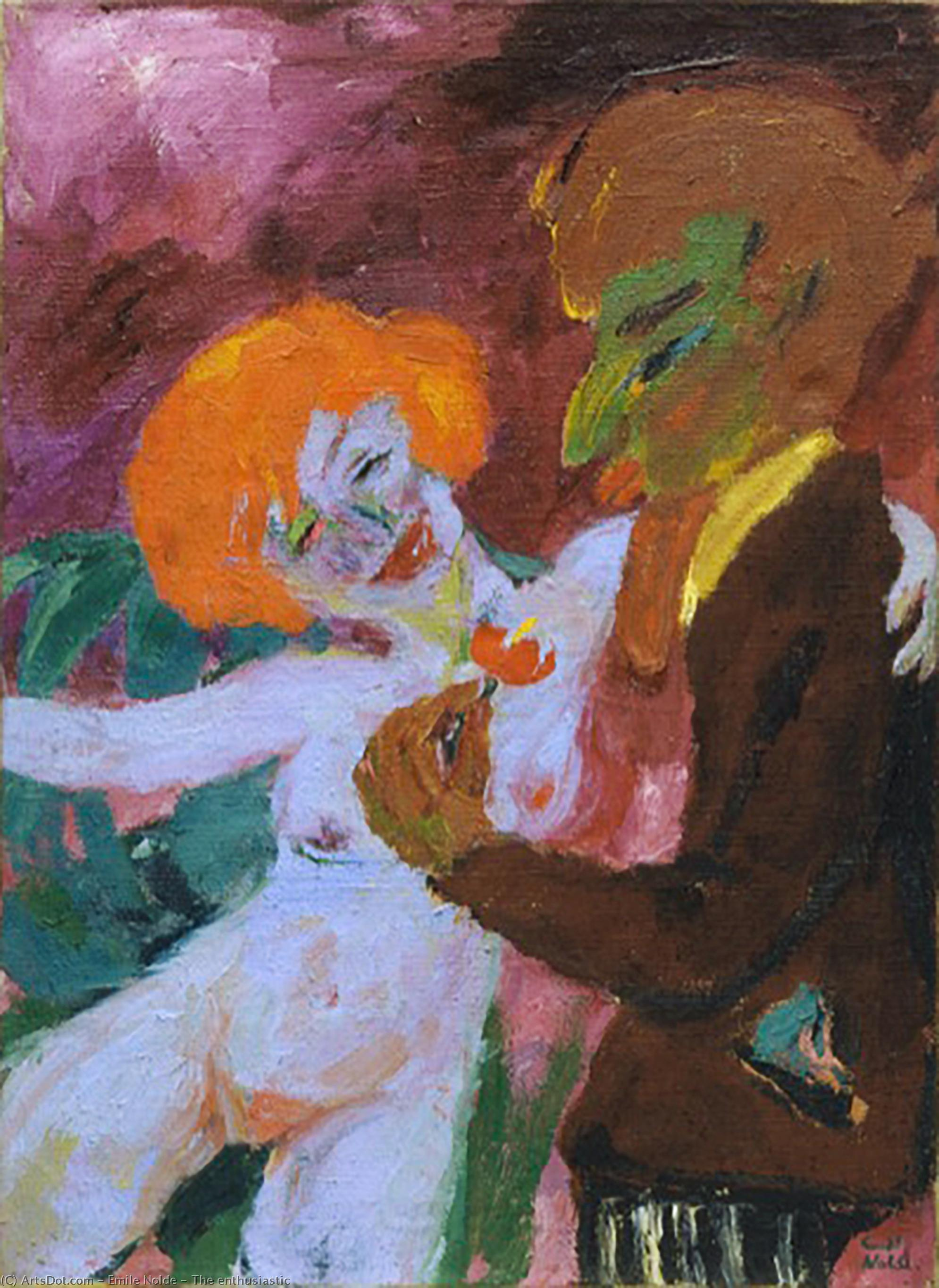 The enthusiastic by Emile Nolde (1867-1956, Germany)