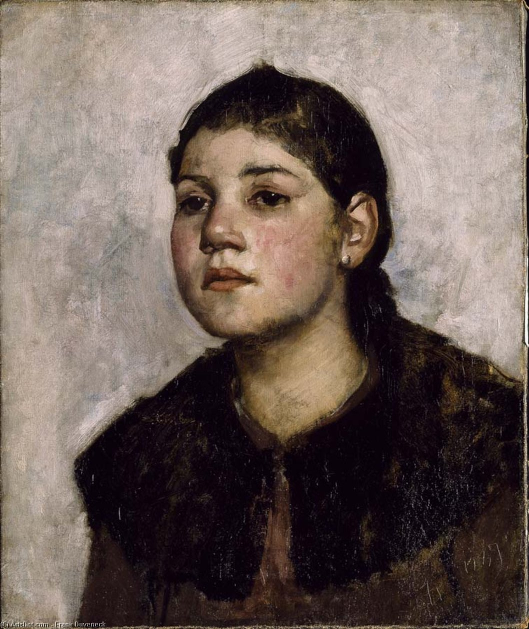 A Child of the People by Frank Duveneck (1848-1919, United States)