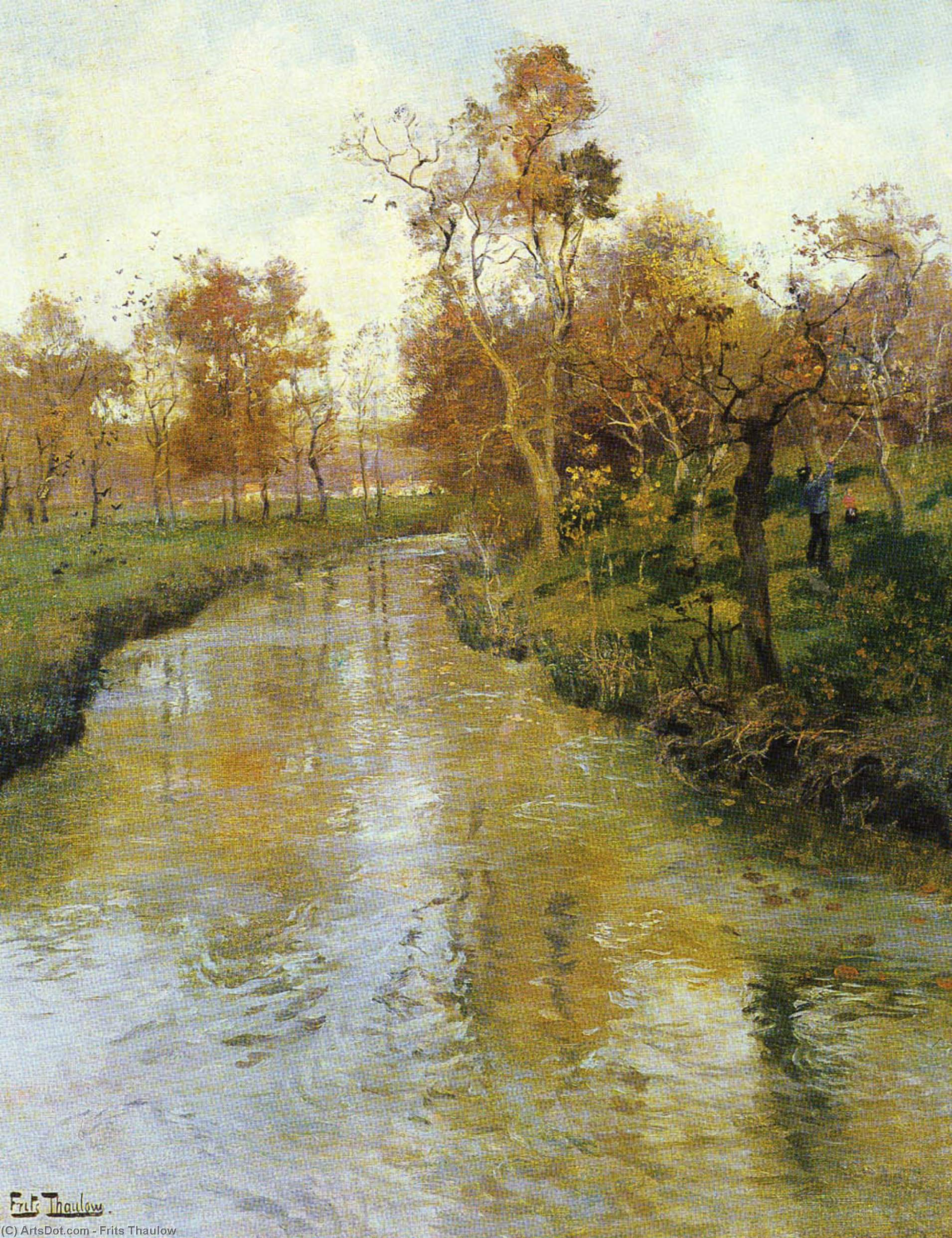 Autumn, Oil On Canvas by Frits Thaulow (1847-1906, Norway)