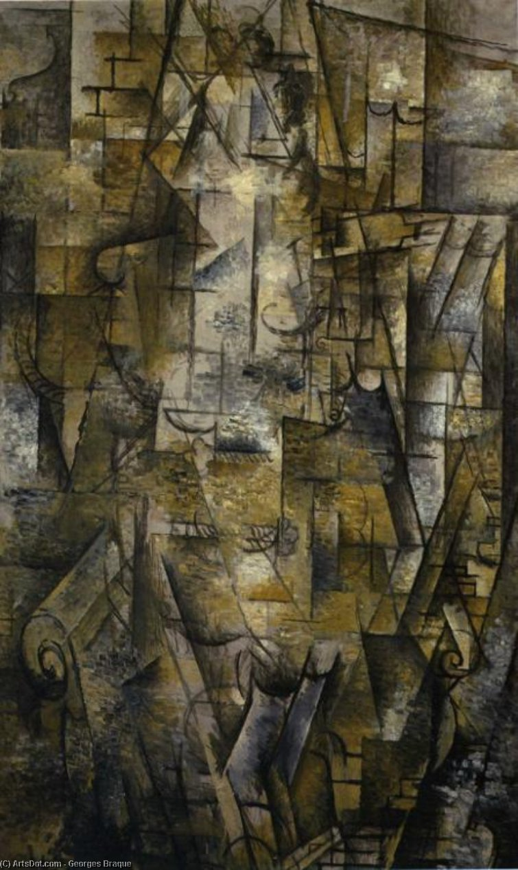 Woman Reading, 1911 by Georges Braque (1882-1963, France) |  | ArtsDot.com