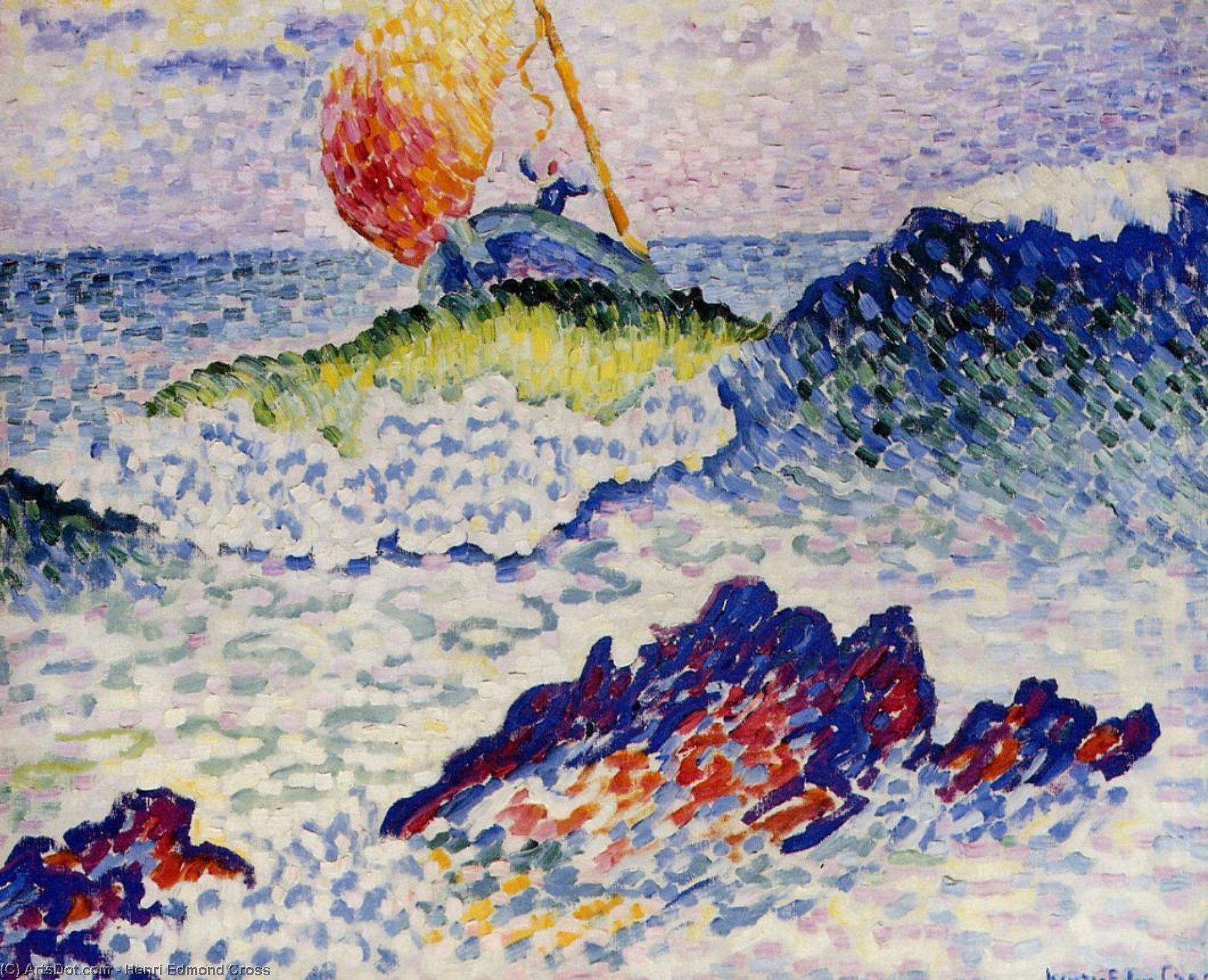 The Shipwreck, Oil On Canvas by Henri Edmond Cross (1856-1910, France)