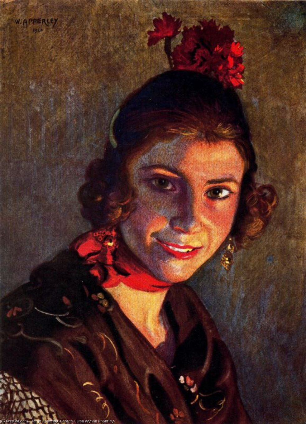 Sevillana by Jorge Apperley (George Owen Wynne Apperley) (1884-1960, United Kingdom) | ArtsDot.com