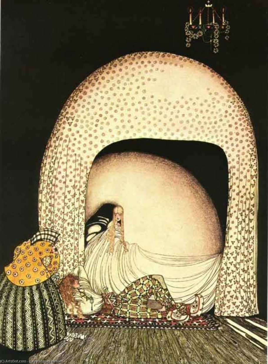 This Time She Whisked Off the Wig by Kay Rasmus Nielsen (1886-1957, Denmark)