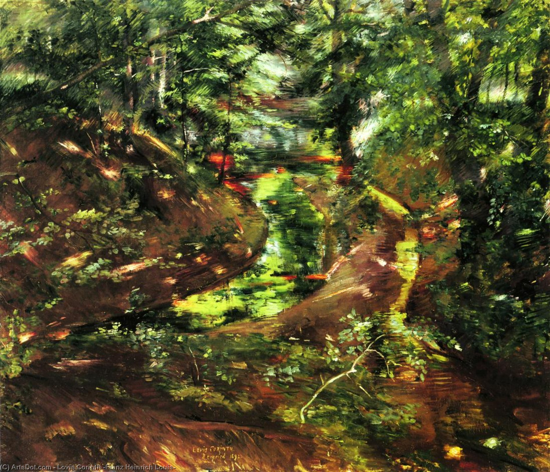 In the Woods near Bernried, Oil On Canvas by Lovis Corinth (Franz Heinrich Louis) (1858-1925, Netherlands)
