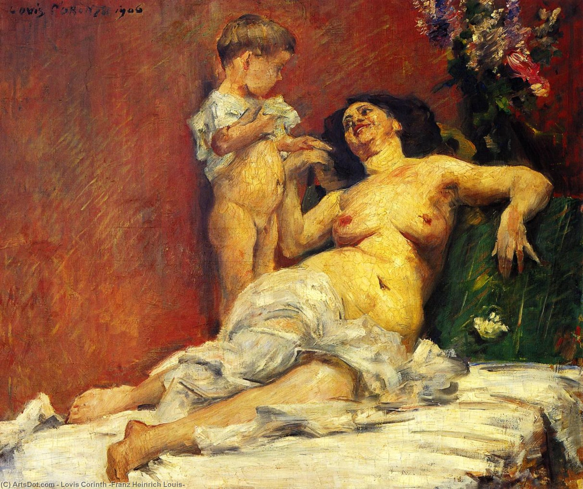 Mother and Child, Oil On Canvas by Lovis Corinth (Franz Heinrich Louis) (1858-1925, Netherlands)