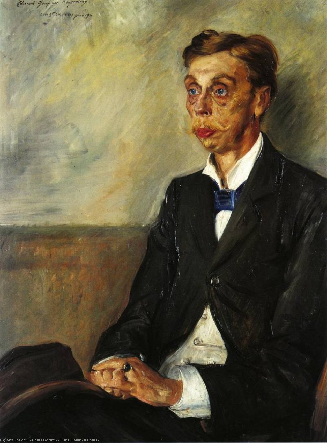 Portrait of Eduard, Count Keyserling, Oil On Canvas by Lovis Corinth (Franz Heinrich Louis) (1858-1925, Netherlands)