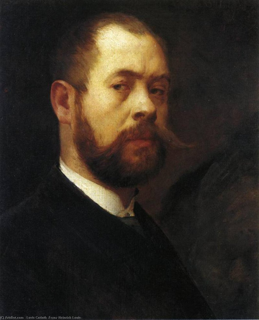 Self Portrait, Oil On Canvas by Lovis Corinth (Franz Heinrich Louis) (1858-1925, Netherlands)