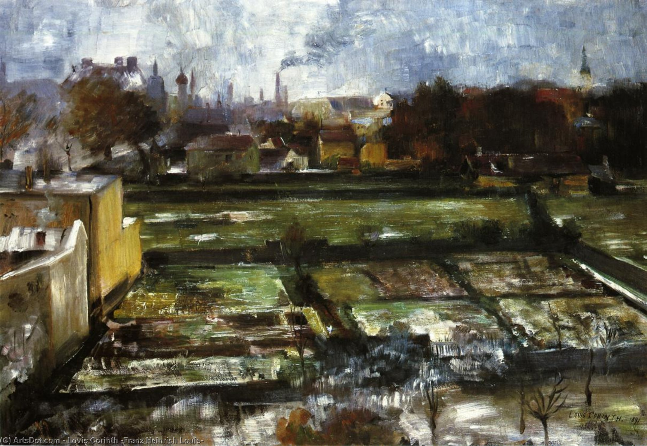 View from the Studio, Oil On Canvas by Lovis Corinth (Franz Heinrich Louis) (1858-1925, Netherlands)