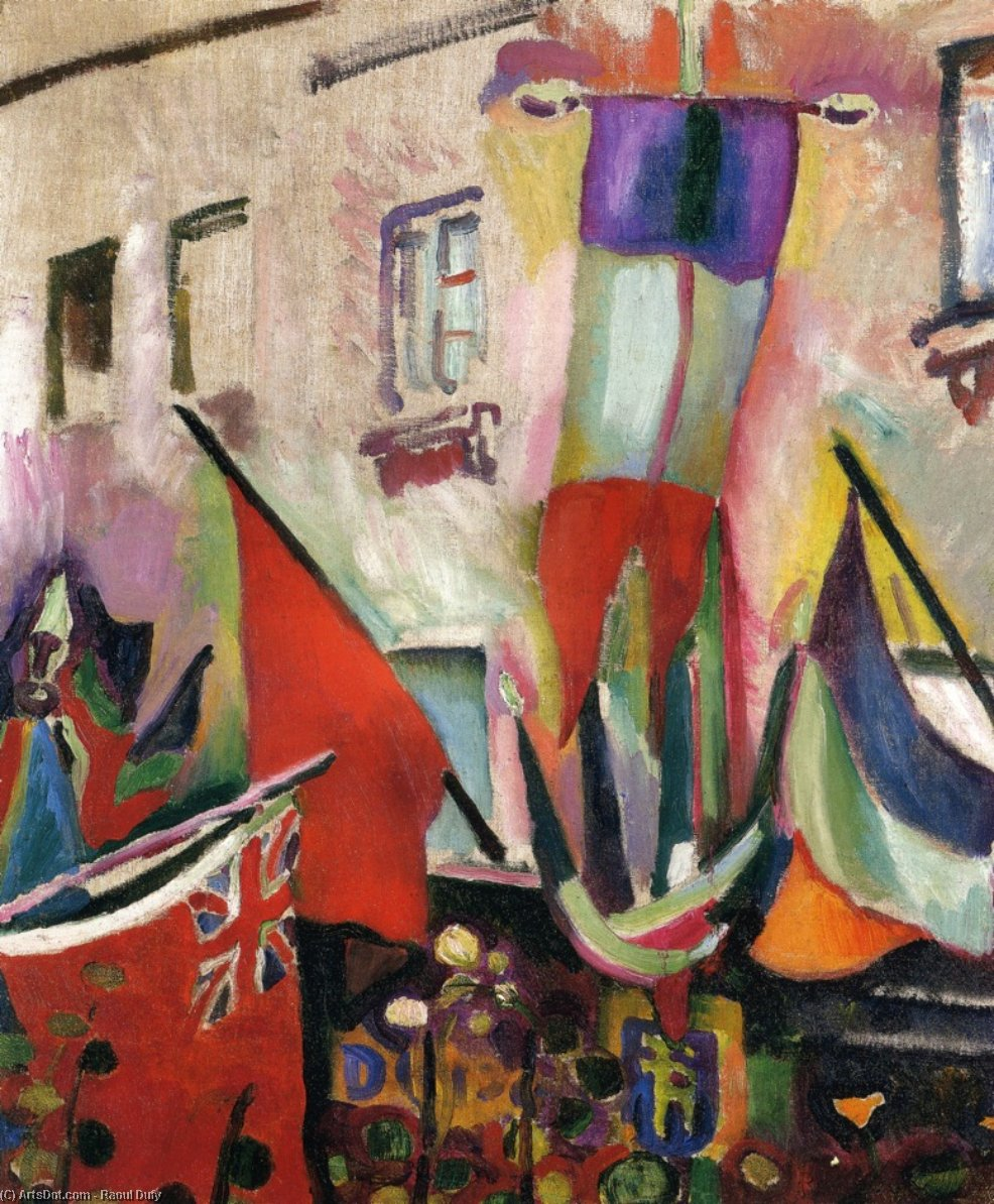 Flags, 1906 by Raoul Dufy (1877-1953, France) |  | ArtsDot.com