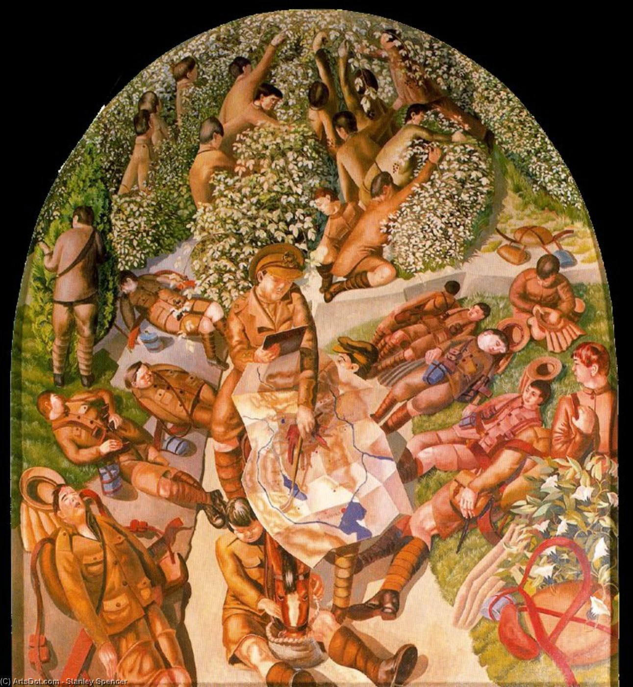Map Reading by Stanley Spencer (1891-1959, United Kingdom)