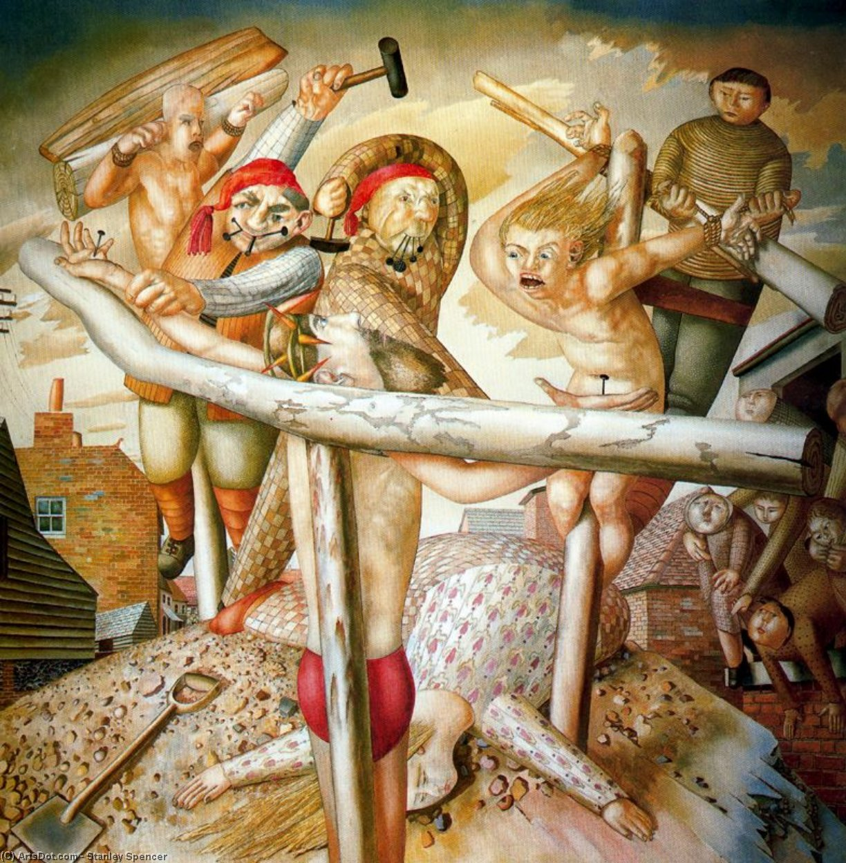 The Crucifixion by Stanley Spencer (1891-1959, United Kingdom)