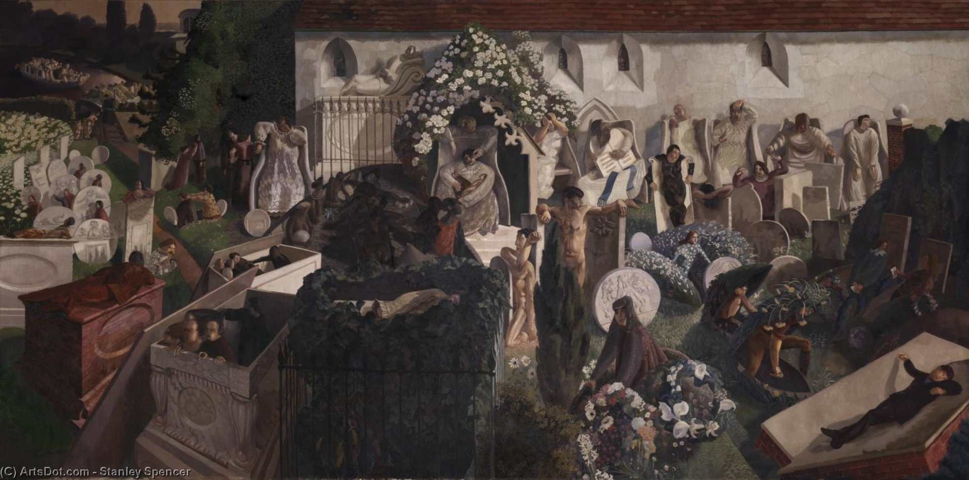 The Resurrection, Cookham by Stanley Spencer (1891-1959, United Kingdom) | ArtsDot.com