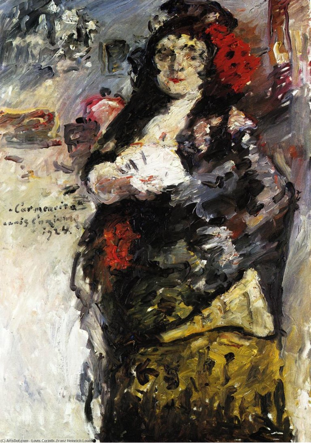 Carmencita, Oil On Canvas by Lovis Corinth (Franz Heinrich Louis) (1858-1925, Netherlands)