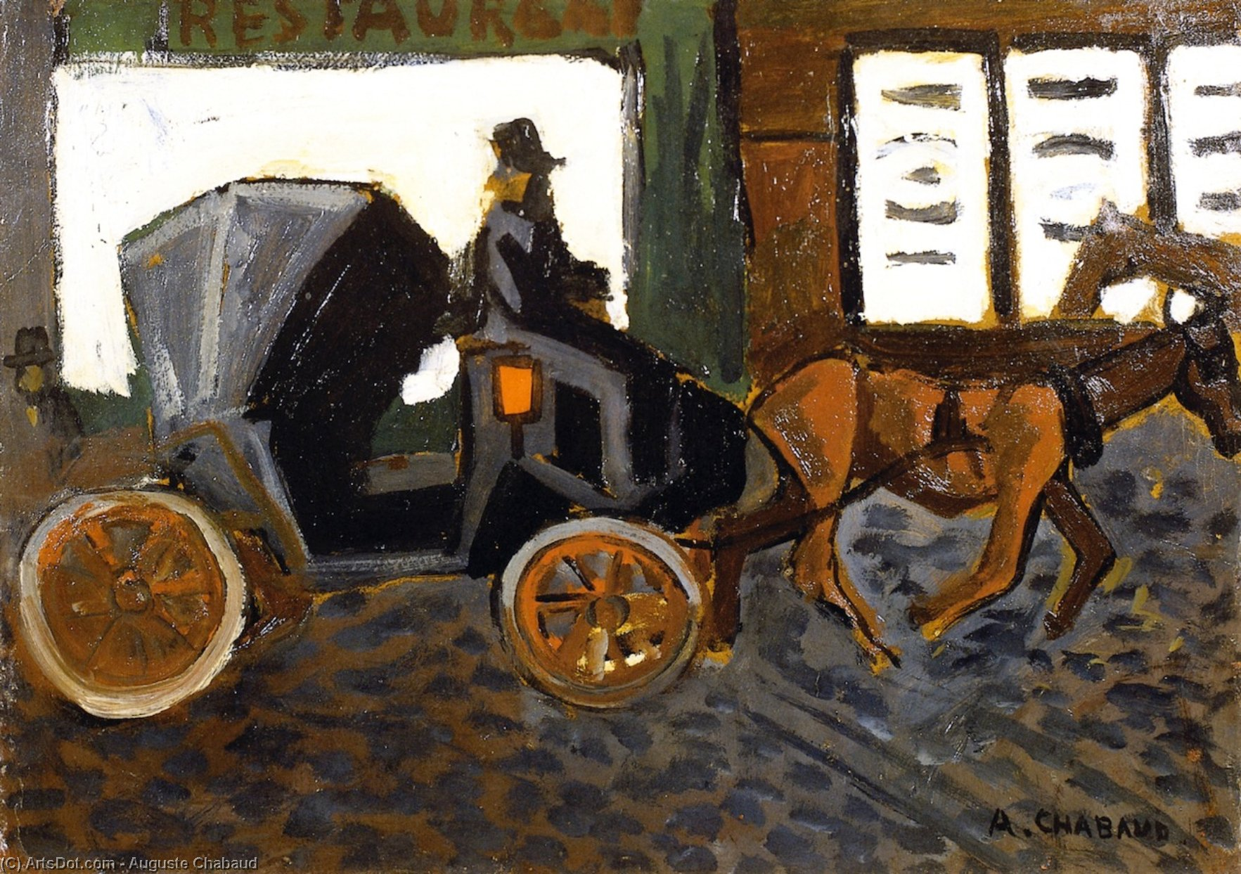 The Carriage, Oil On Panel by Auguste Chabaud (1882-1955, France)