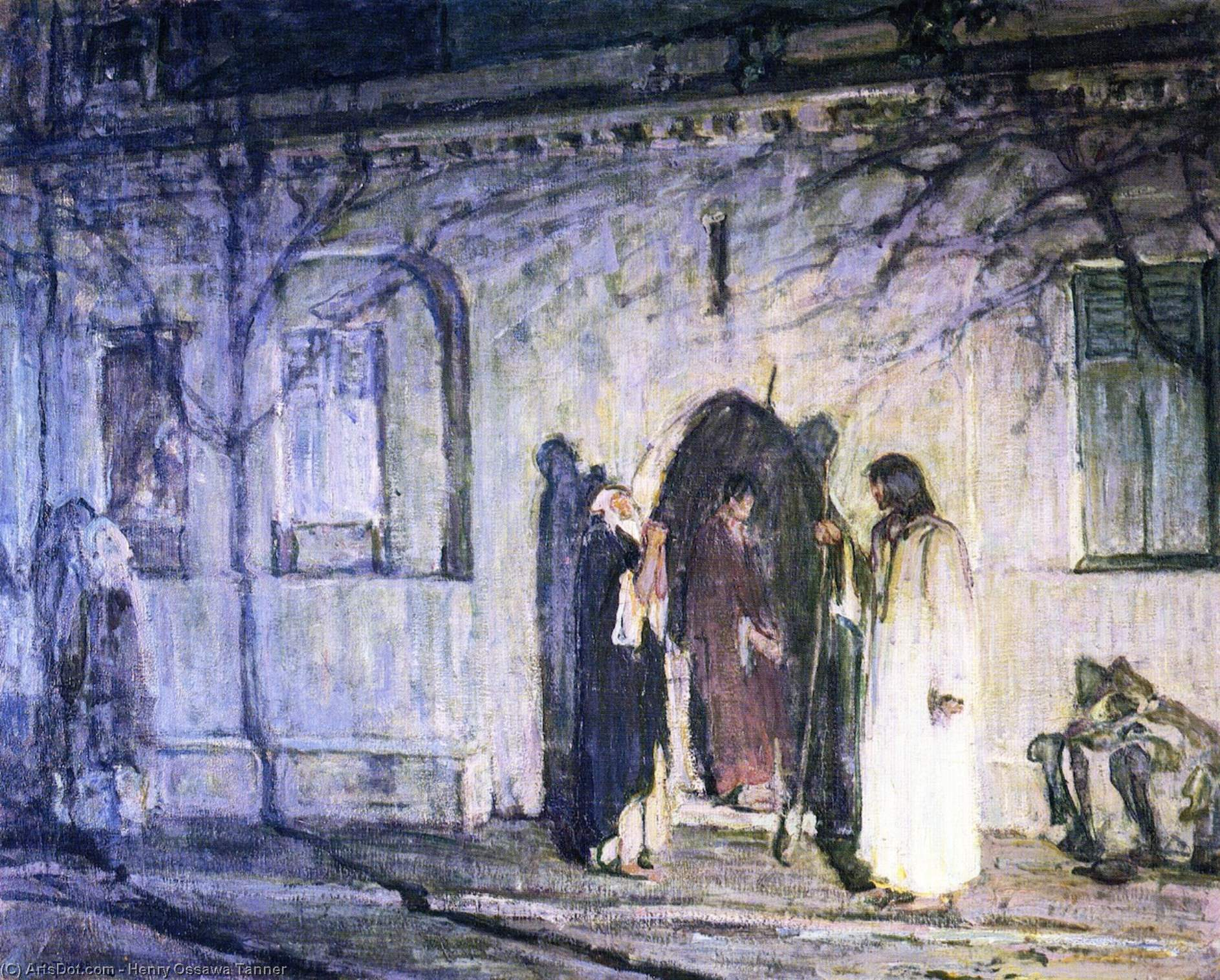 Christ with the Canaanite Woman and Her Daughter, Oil On Canvas by Henry Ossawa Tanner (1859-1937, United States)
