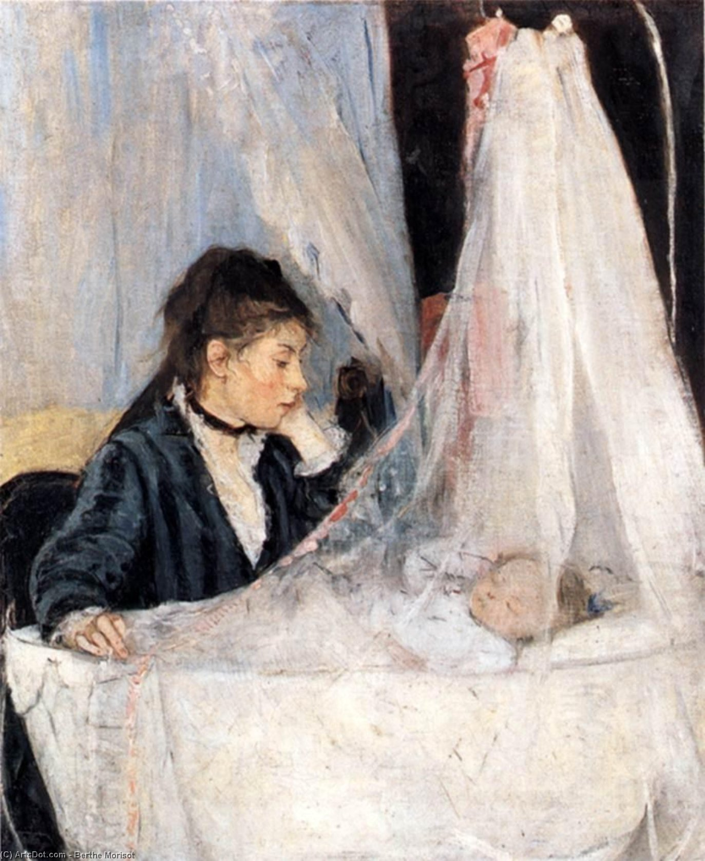 The Cradle, 1872 by Berthe Morisot (1841-1895, France) | Oil Painting | ArtsDot.com