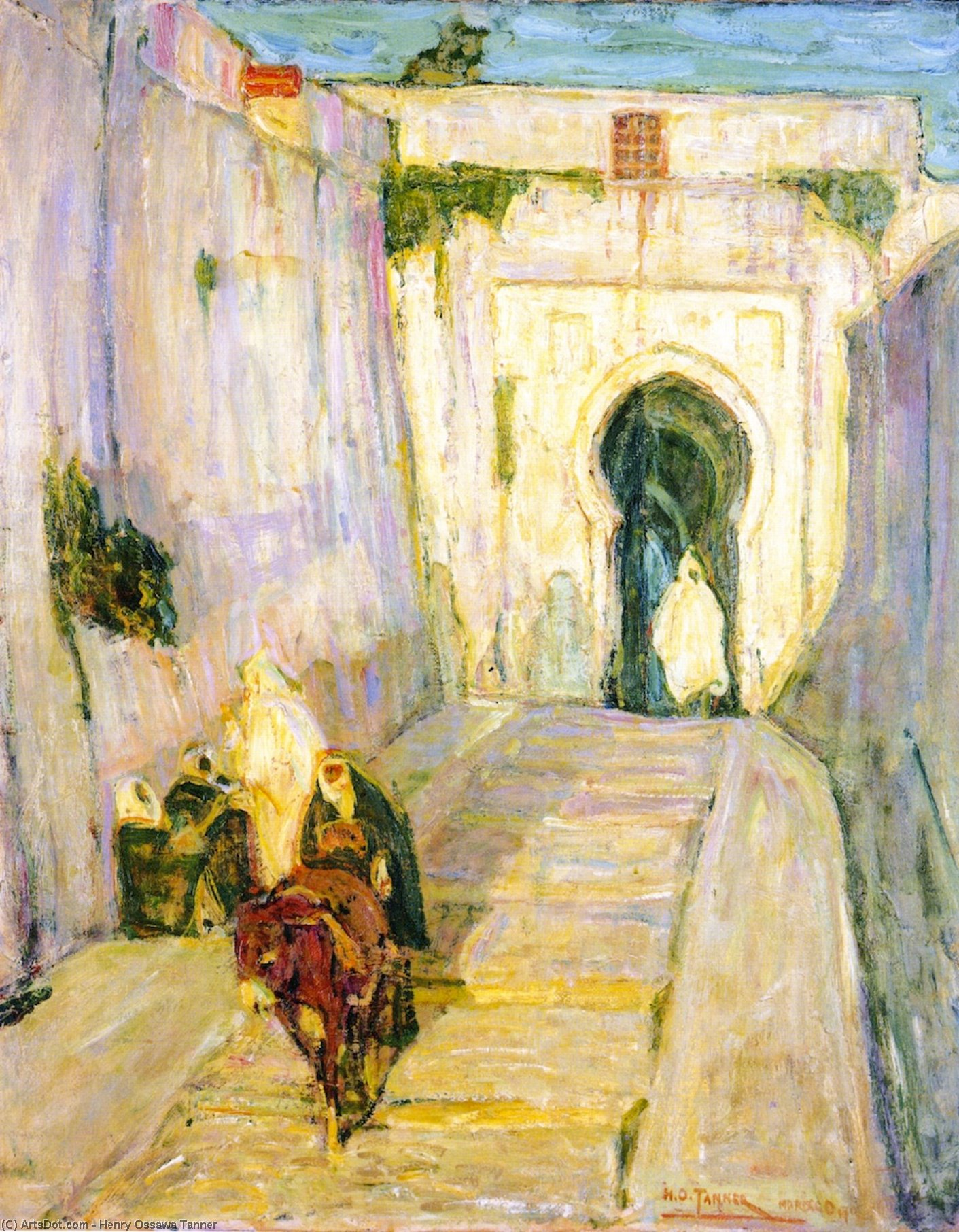 Entrance to the Casbah, Painting by Henry Ossawa Tanner (1859-1937, United States)