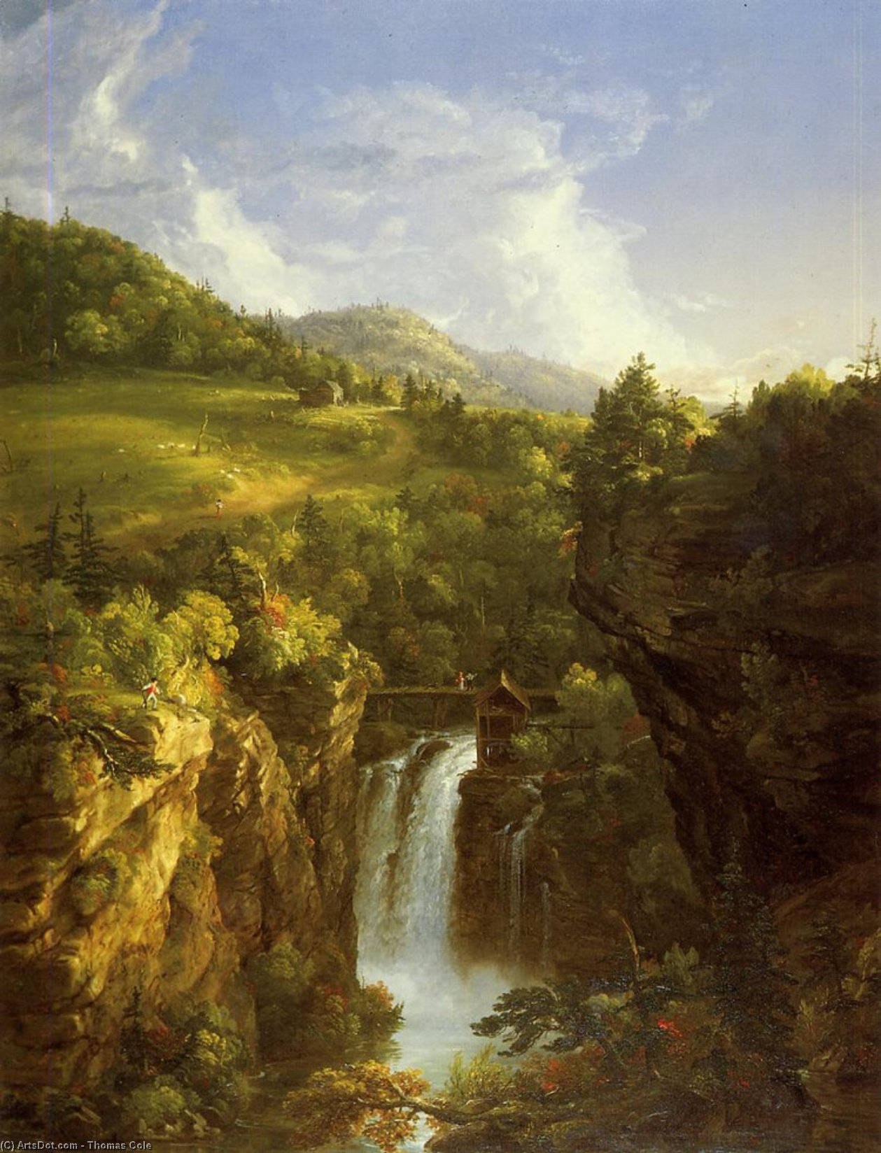 Genesee Scenery (also known as Poop), Sculpture by Thomas Cole (1801-1848, United Kingdom)