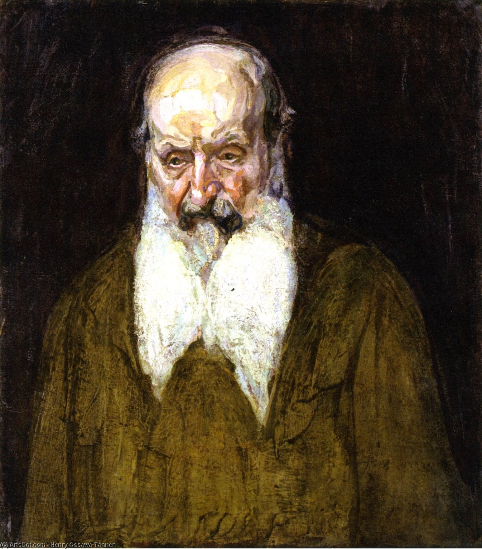 Head of a Jew in Palestine, Oil On Canvas by Henry Ossawa Tanner (1859-1937, United States)