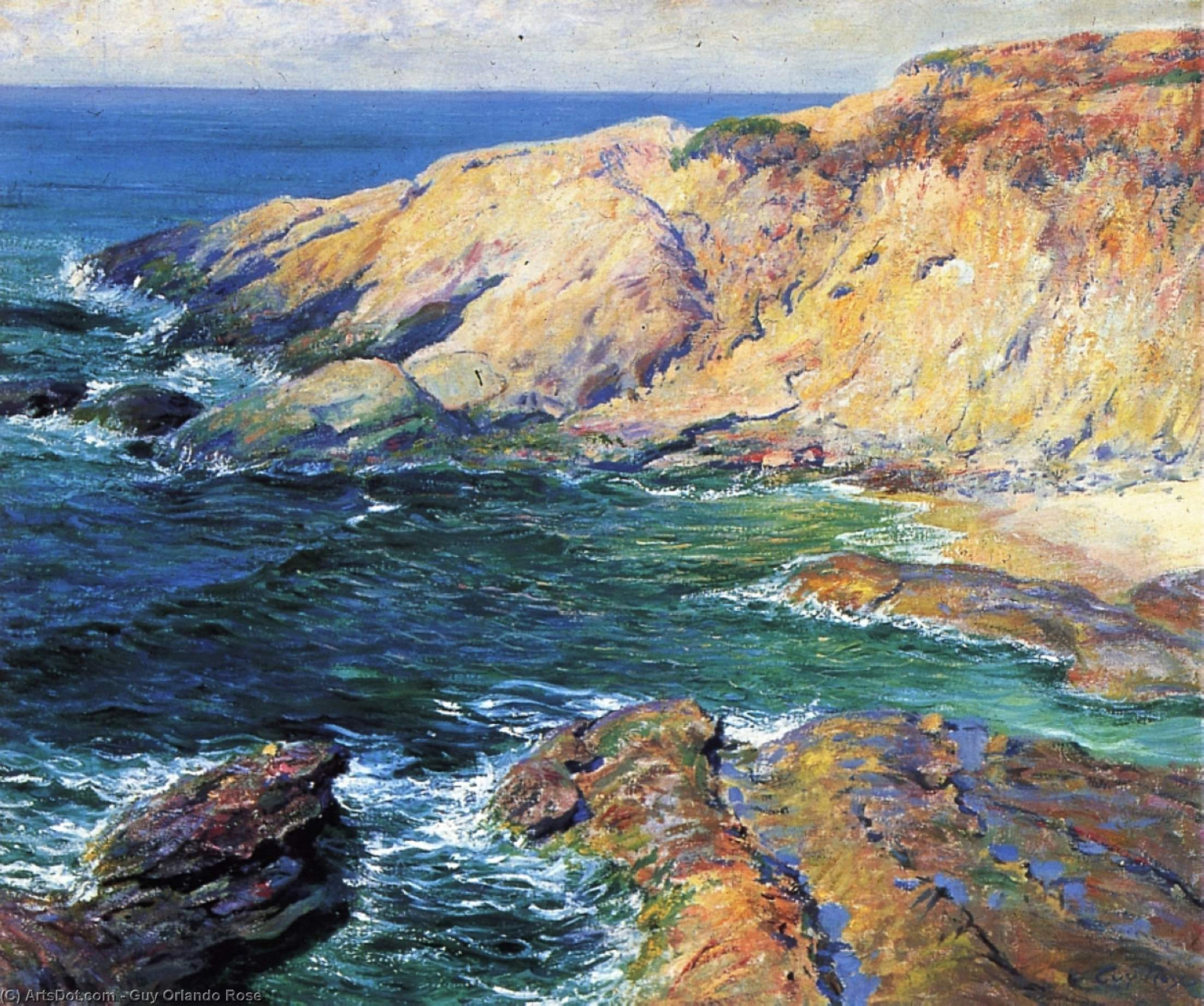 Order Art Reproduction : Incoming Tide, 1917 by Guy Orlando Rose (1867-1925, United States) | ArtsDot.com