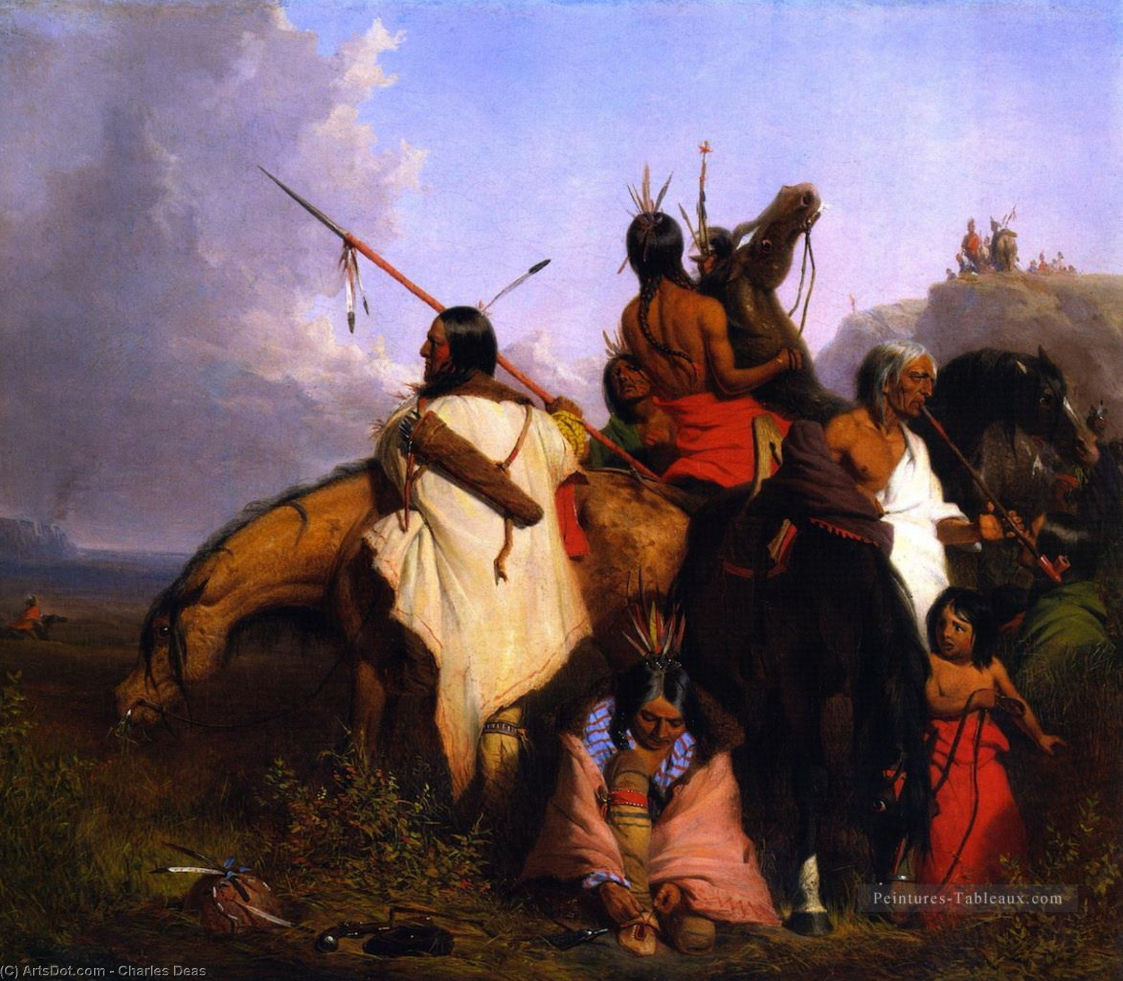 Indian Group, Oil On Canvas by Charles Deas (1818-1867, United States)