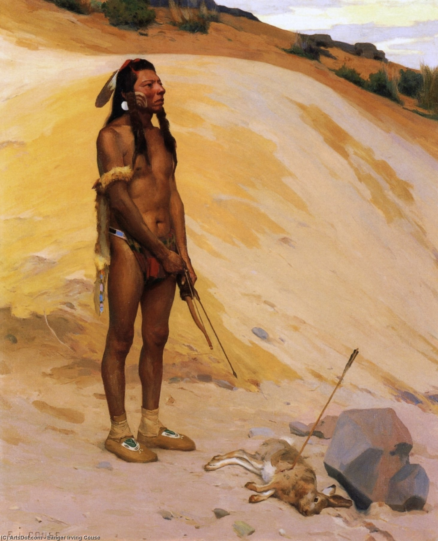 An Indian Hunter, 1897 by Eanger Irving Couse (1866-1936, United States) | Museum Art Reproductions | ArtsDot.com