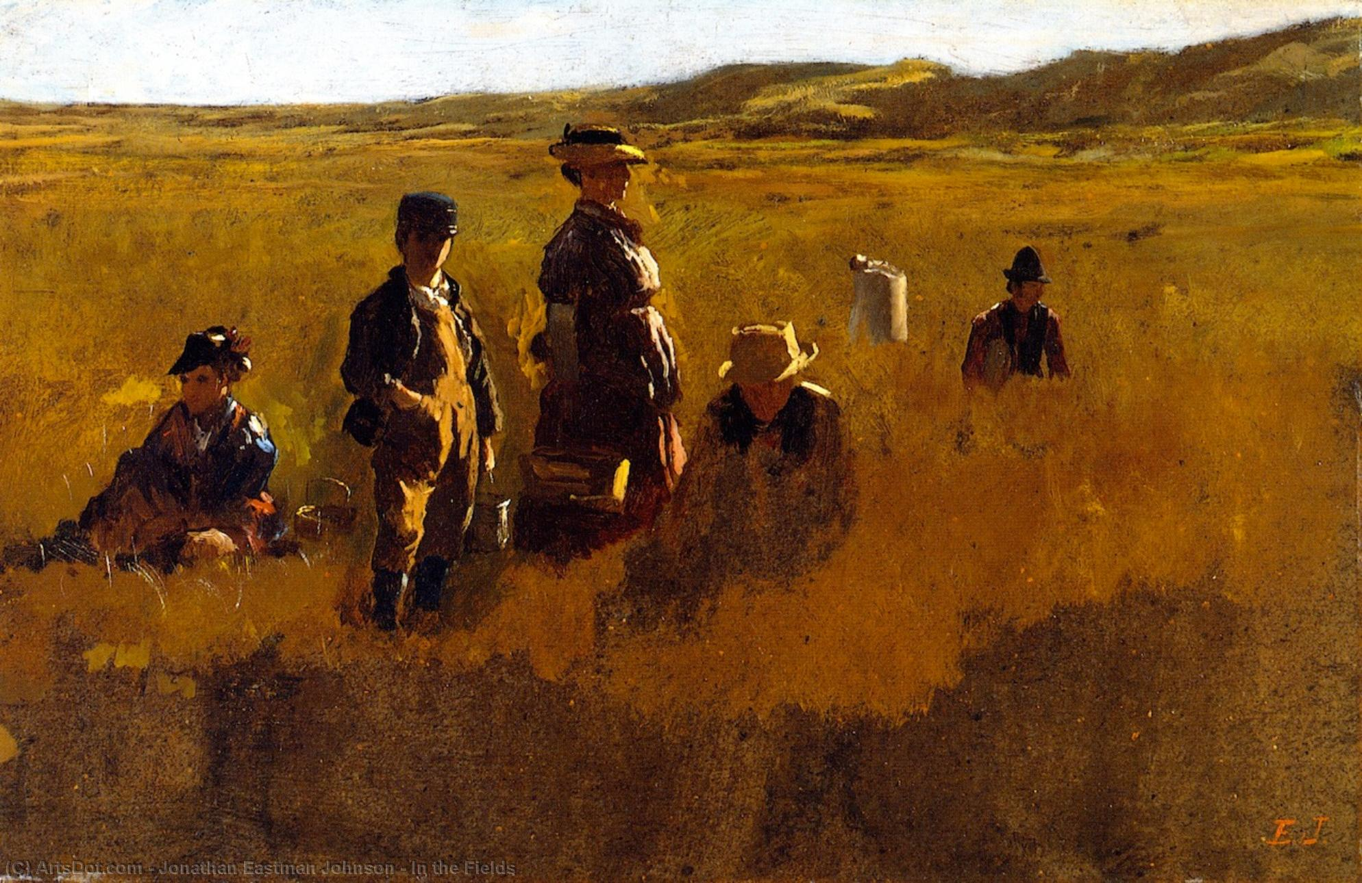 In the Fields, 1878 by Jonathan Eastman Johnson (1824-1906, United Kingdom) | Museum Art Reproductions | ArtsDot.com