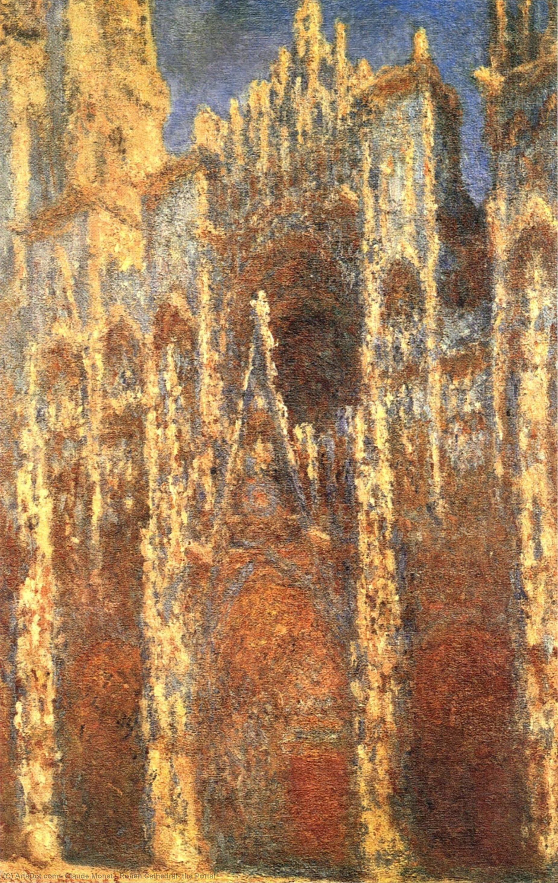 Buy Museum Art Reproductions | Rouen Cathedral, the Portal, 1894 by Claude Monet (1840-1926, France) | ArtsDot.com
