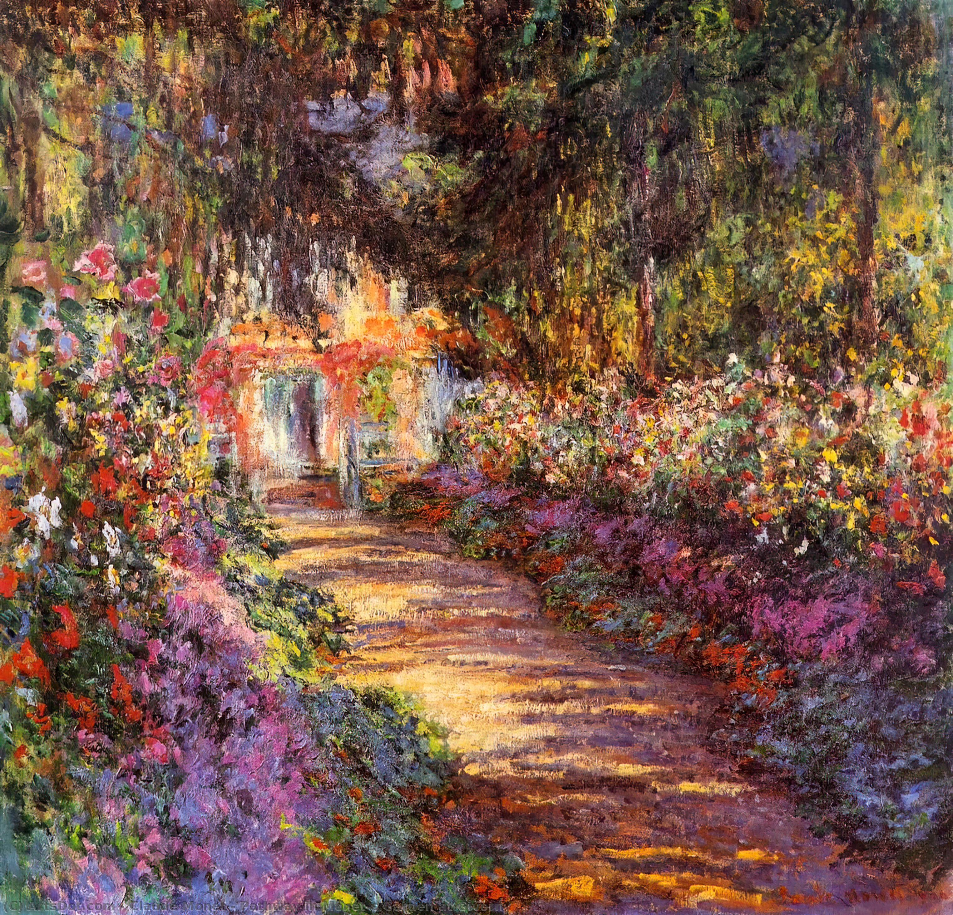 Pathway in Monet`s Garden at Giverny, 1902 by Claude Monet (1840-1926, France) | Paintings Reproductions Claude Monet | ArtsDot.com