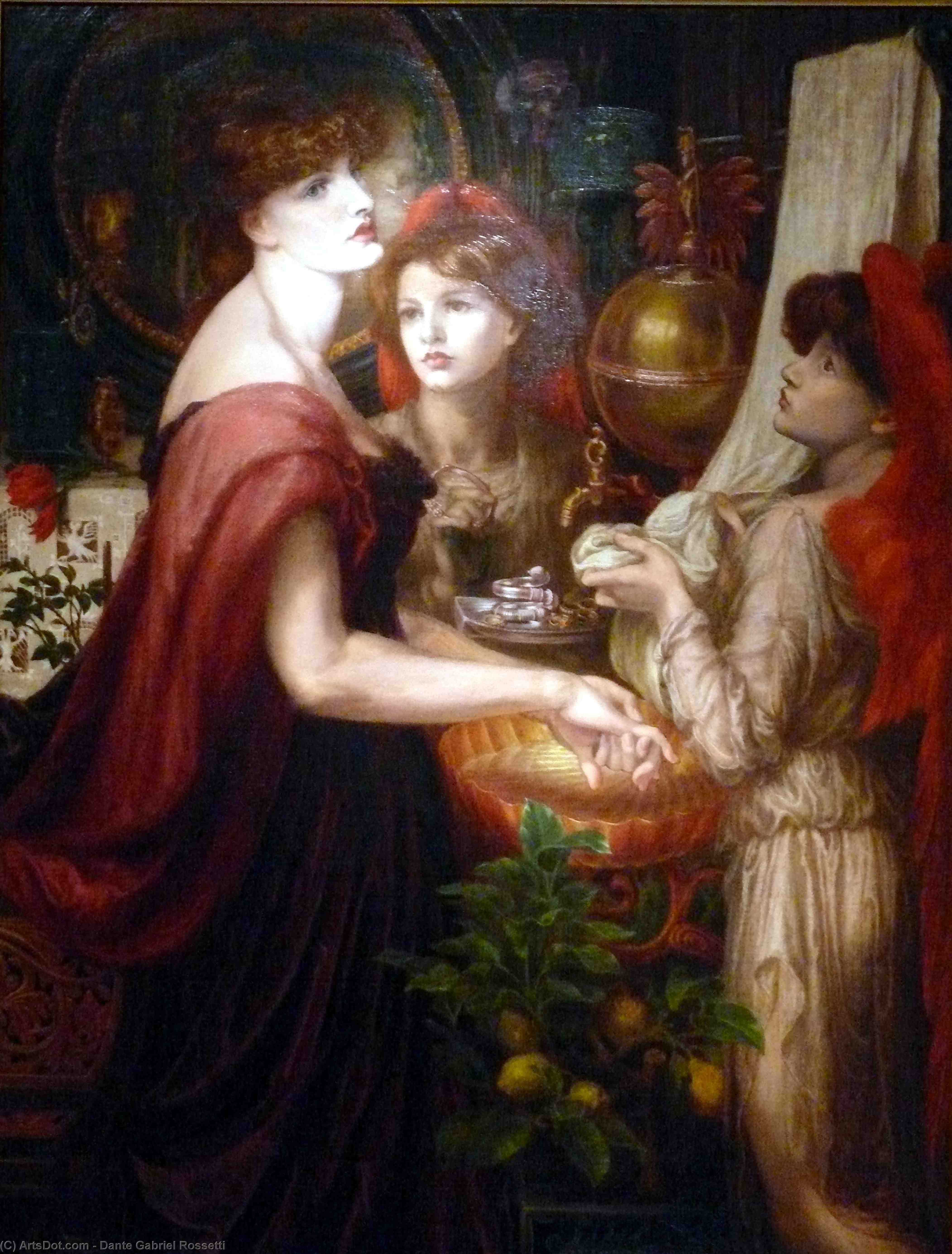 The beautiful Hand, Oil On Canvas by Dante Gabriel Rossetti (1828-1882, United Kingdom)