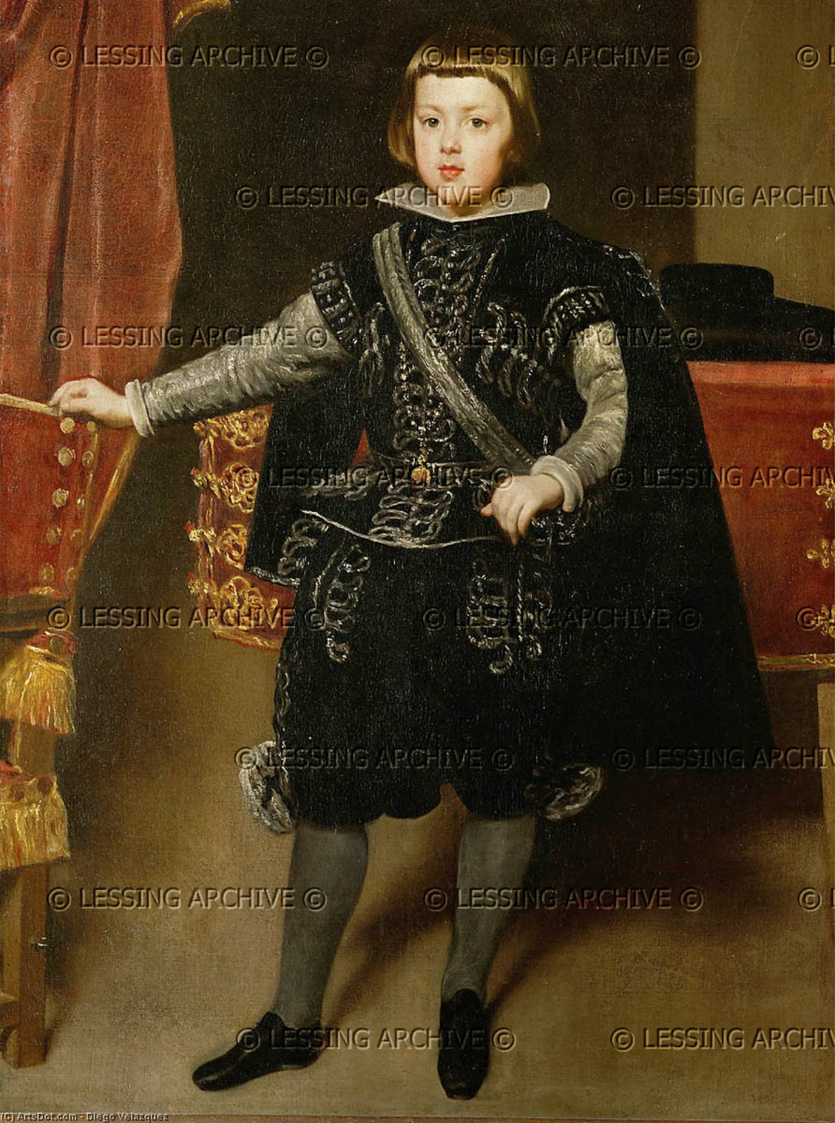 Prince Balthasar Carlos, Oil On Canvas by Diego Velazquez (1599-1660, Spain)