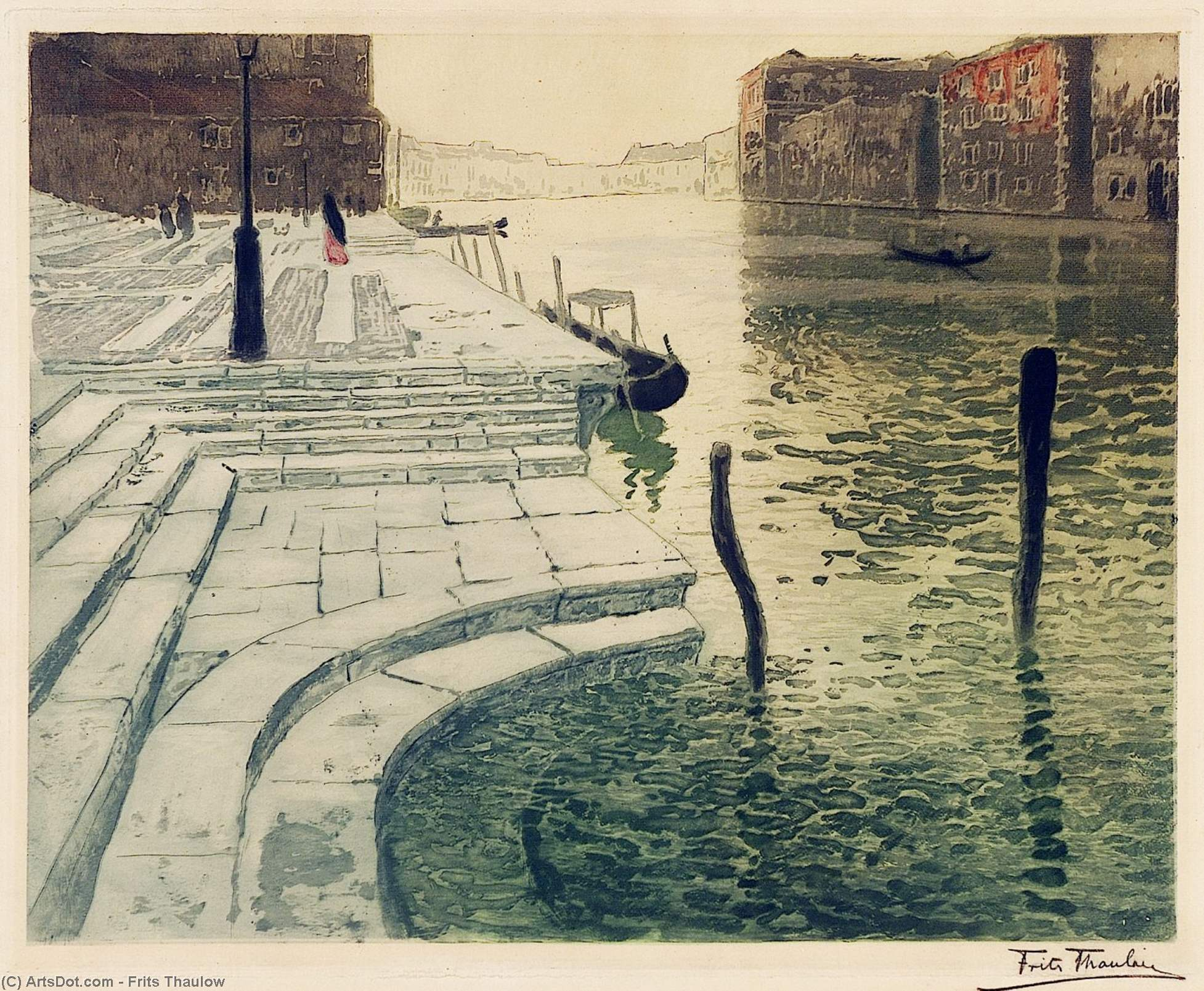 Marble Steps by Frits Thaulow (1847-1906, Norway)