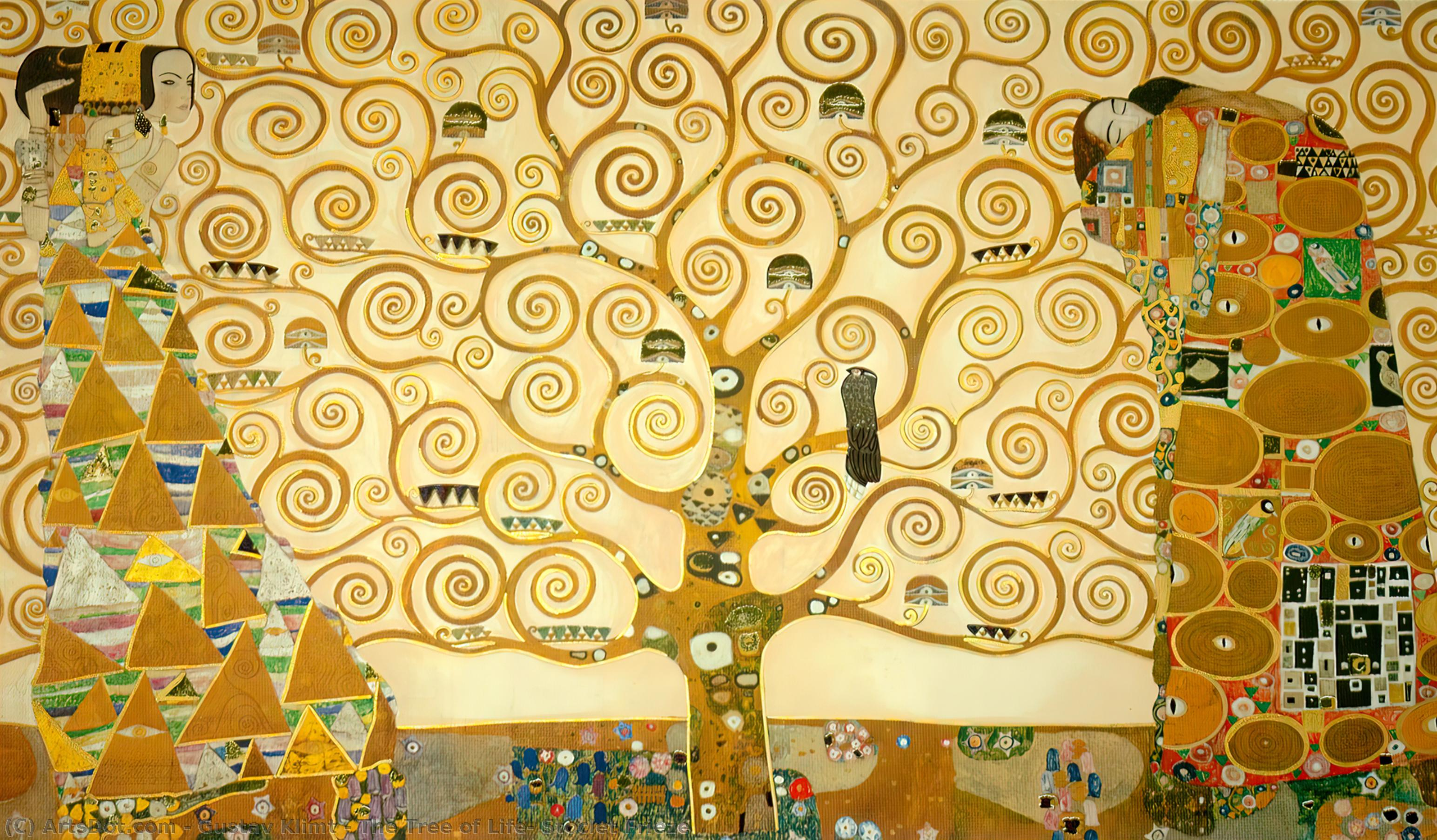 The Tree of Life, Stoclet Frieze, 1909 by Gustav Klimt (1862-1918, Austria) | Paintings Reproductions Gustav Klimt | ArtsDot.com