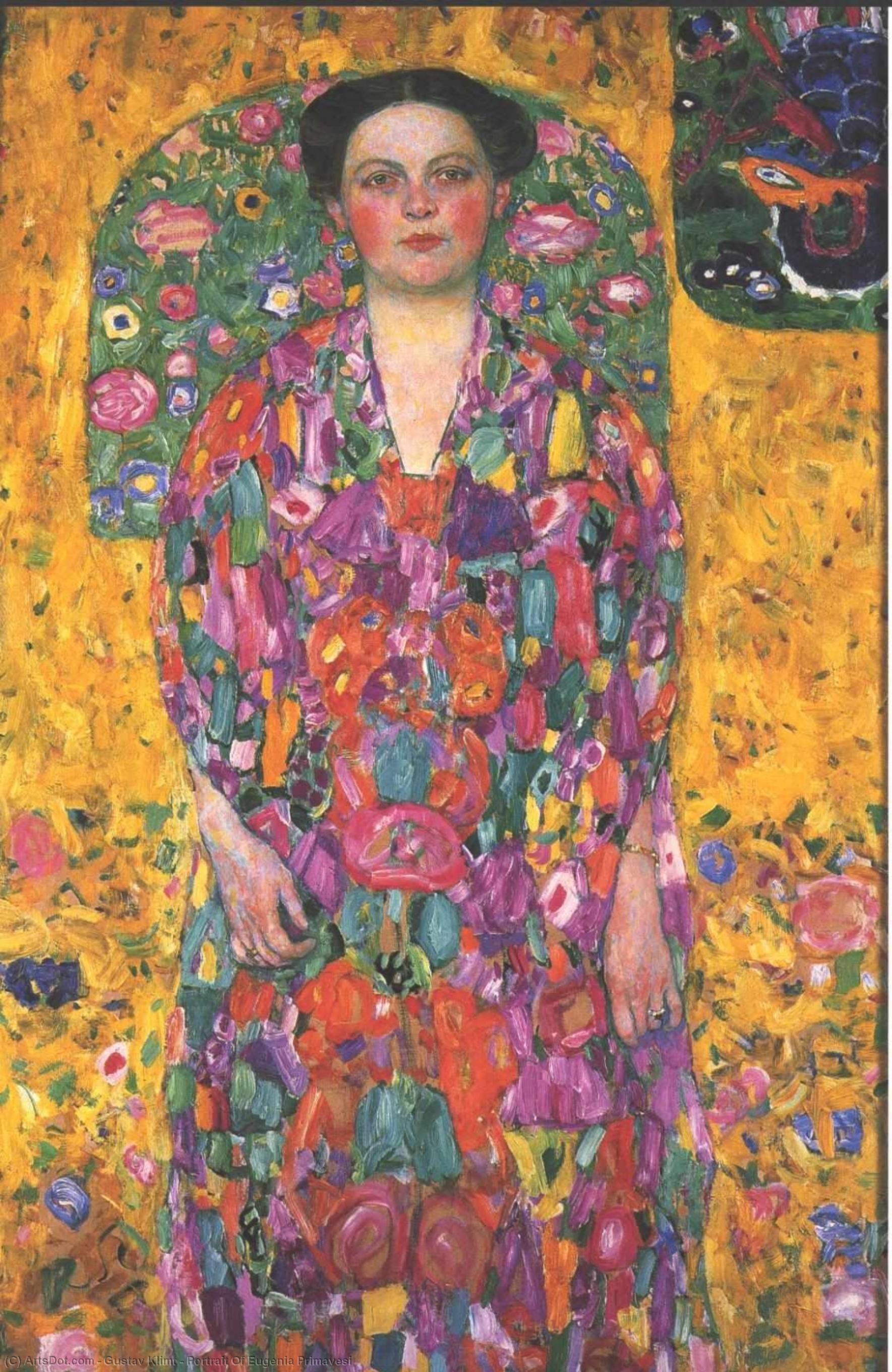 Portrait Of Eugenia Primavesi, 1913 by Gustav Klimt (1862-1918, Austria) | Museum Art Reproductions | ArtsDot.com