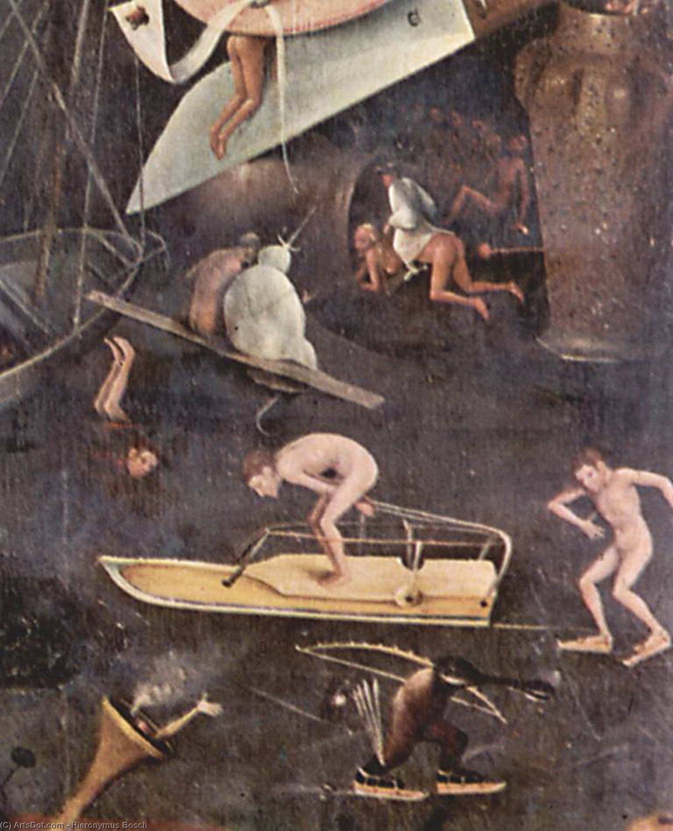 Order Art Reproductions | The Garden of Earthly Delights (detail), 1515 by Hieronymus Bosch (1450-1516, Netherlands) | ArtsDot.com
