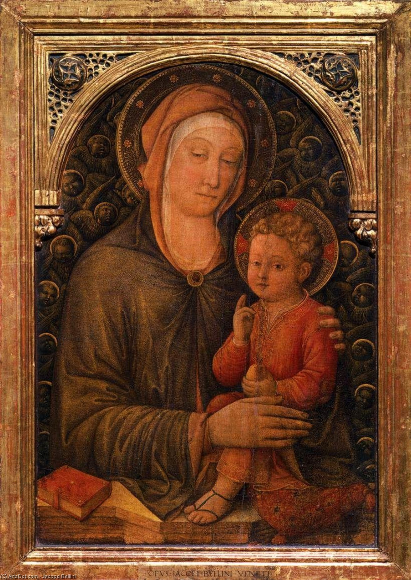Virgin with Child by Jacopo Bellini (1396-1470, Italy) | Museum Art Reproductions Jacopo Bellini | ArtsDot.com