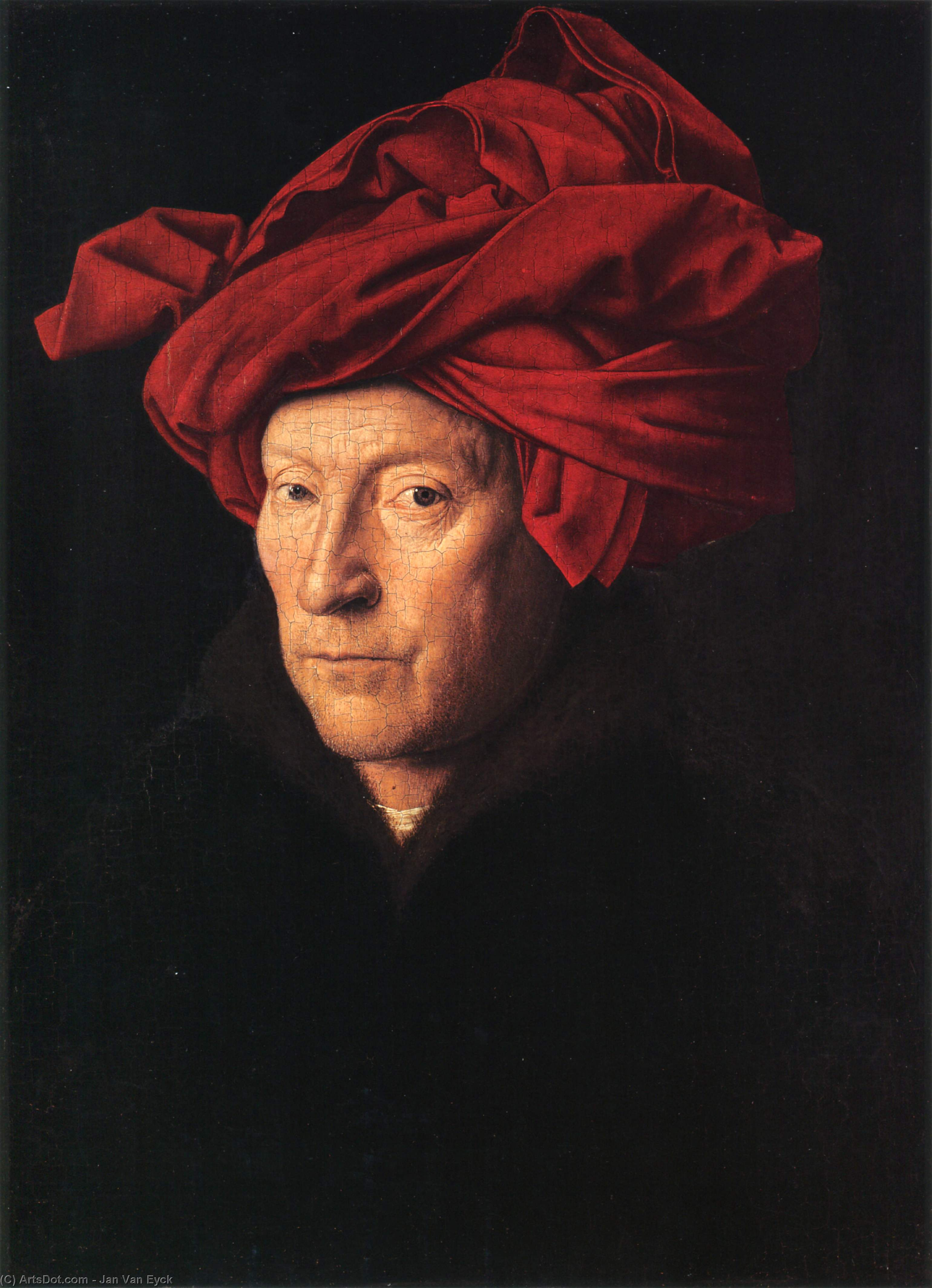 Order Oil Painting : A Man in a Turban, 1433 by Jan Van Eyck (1390-1441, Bishopric Of Liège) | ArtsDot.com