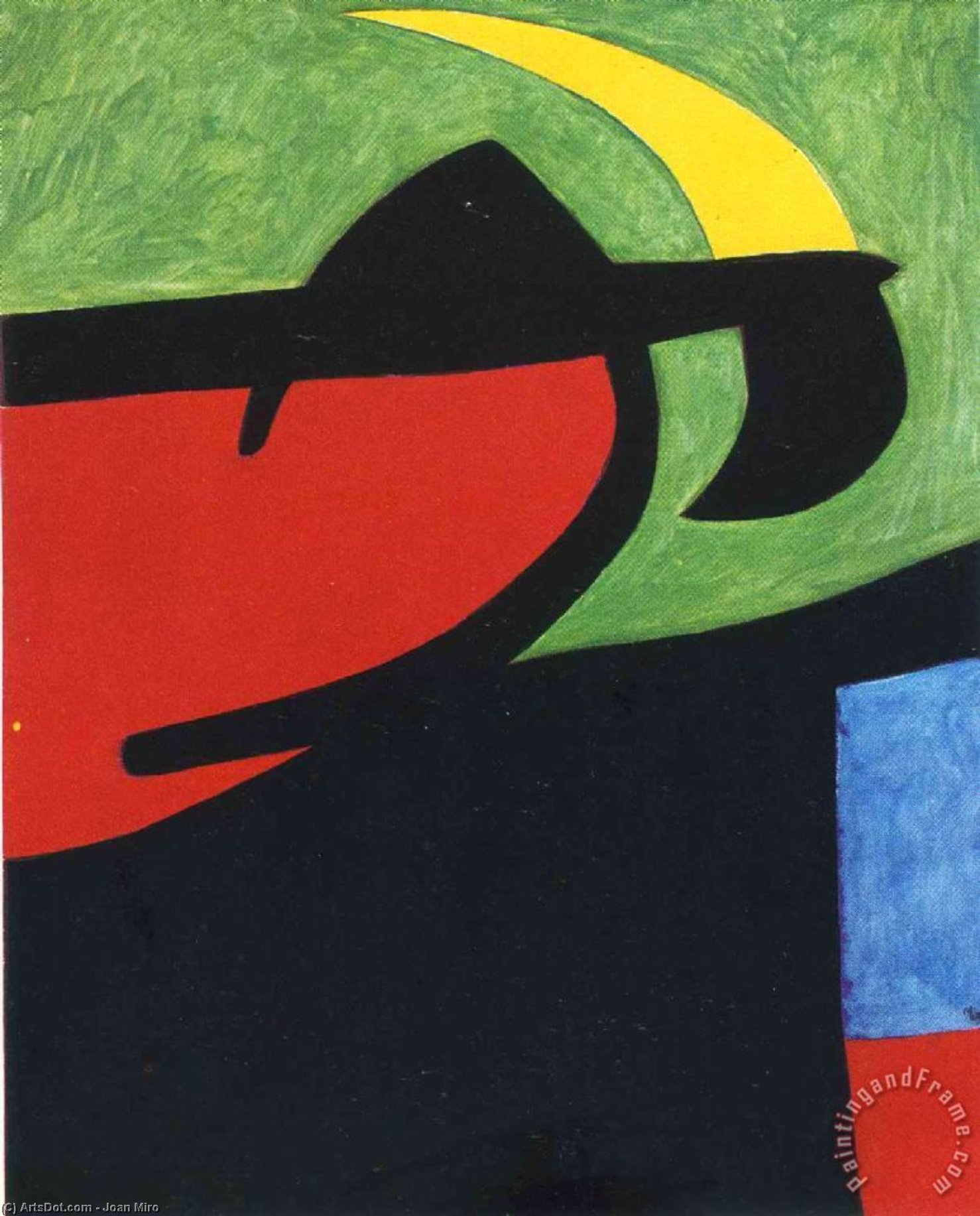 Catalan Peasant in the Moonlight, 1968 by Joan Miro (1893-1983, Spain)