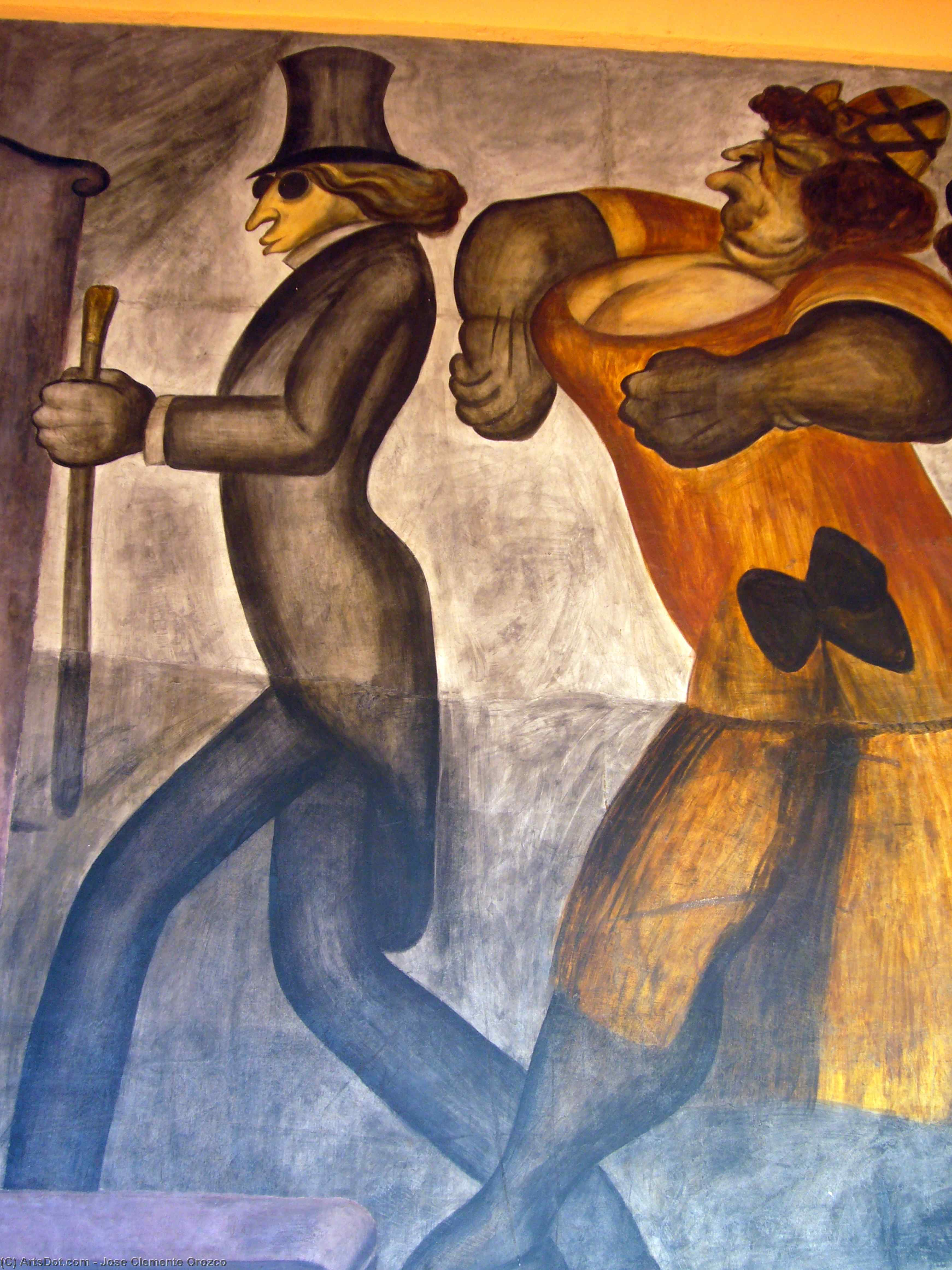 The Rich People (detail), 1924 by Jose Clemente Orozco (1883-1949, Mexico) | Art Reproduction | ArtsDot.com