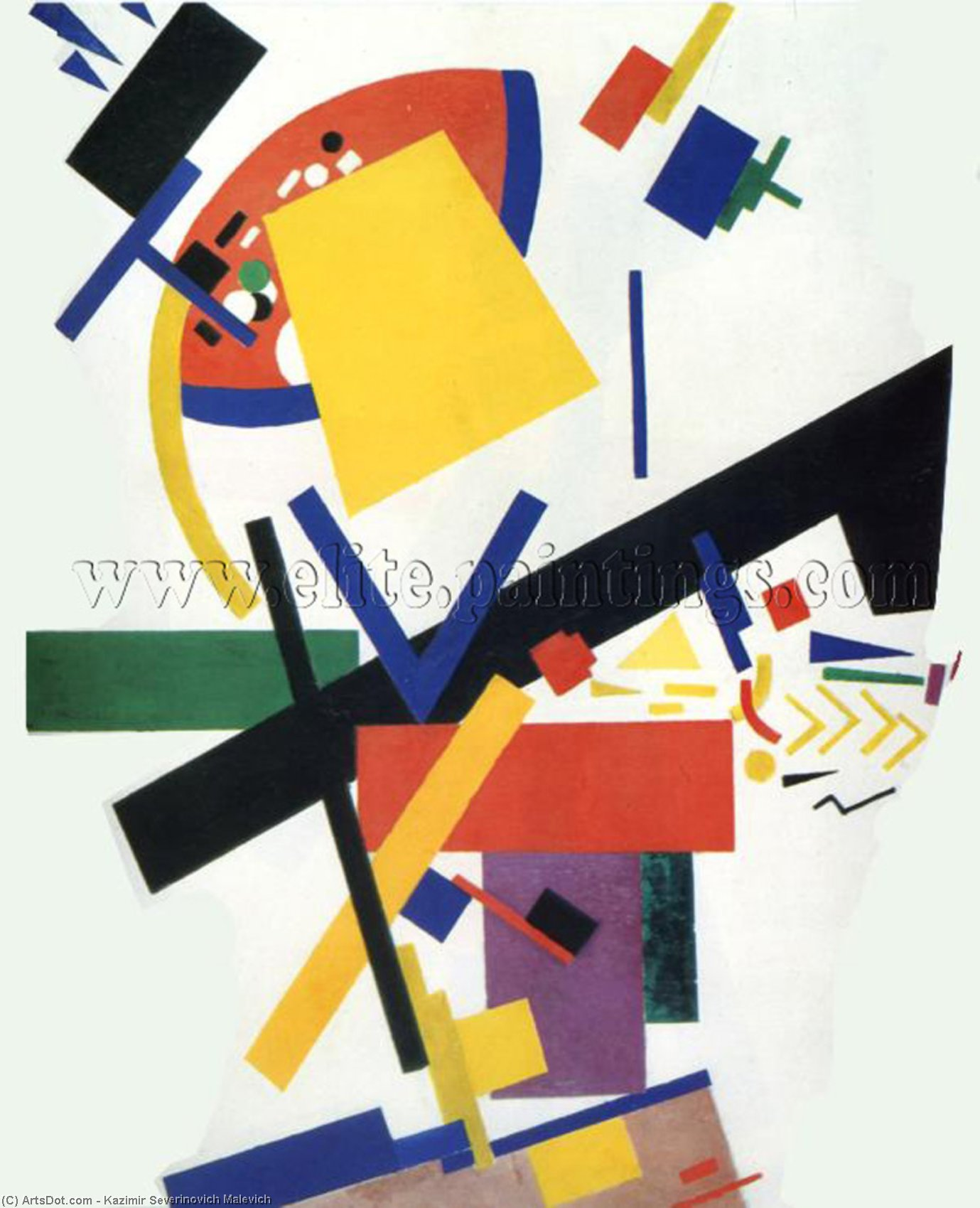 Suprematism, 1915 by Kazimir Severinovich Malevich (1879-1935, Ukraine) | Museum Quality Reproductions | ArtsDot.com