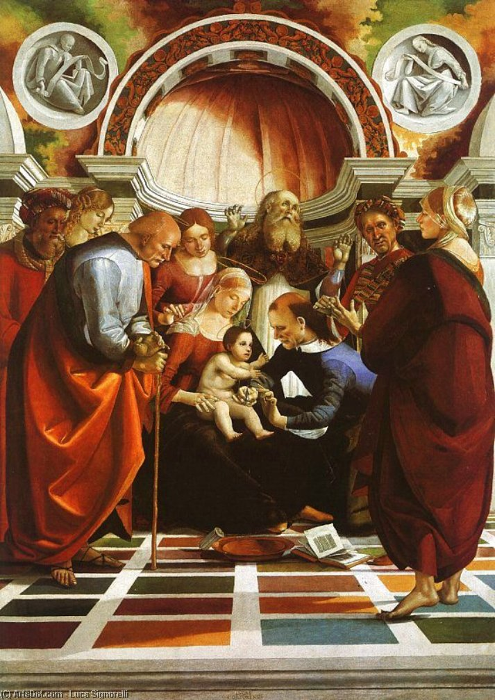 The Circumcision, 1495 by Luca Signorelli (1450-1523, Italy)