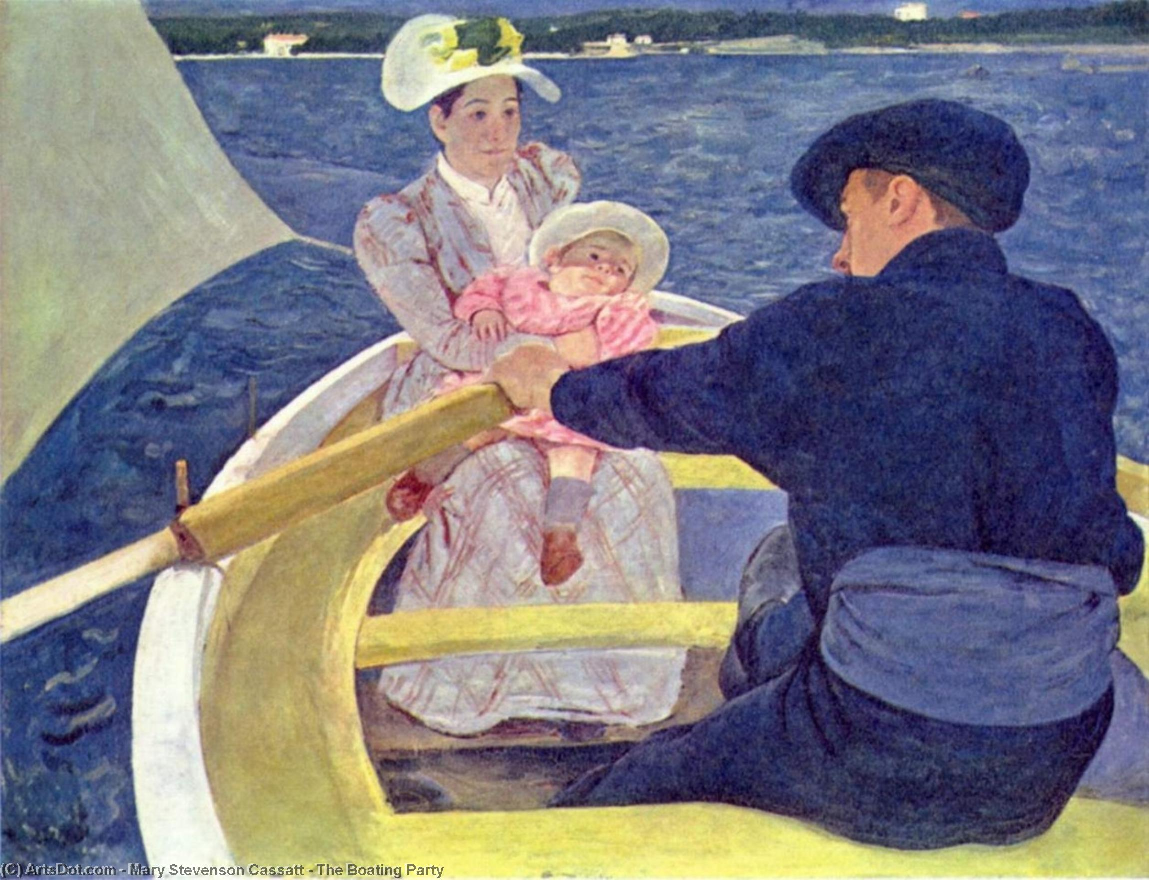The Boating Party, 1894 by Mary Stevenson Cassatt (1843-1926, United States) | Paintings Reproductions Mary Stevenson Cassatt | ArtsDot.com