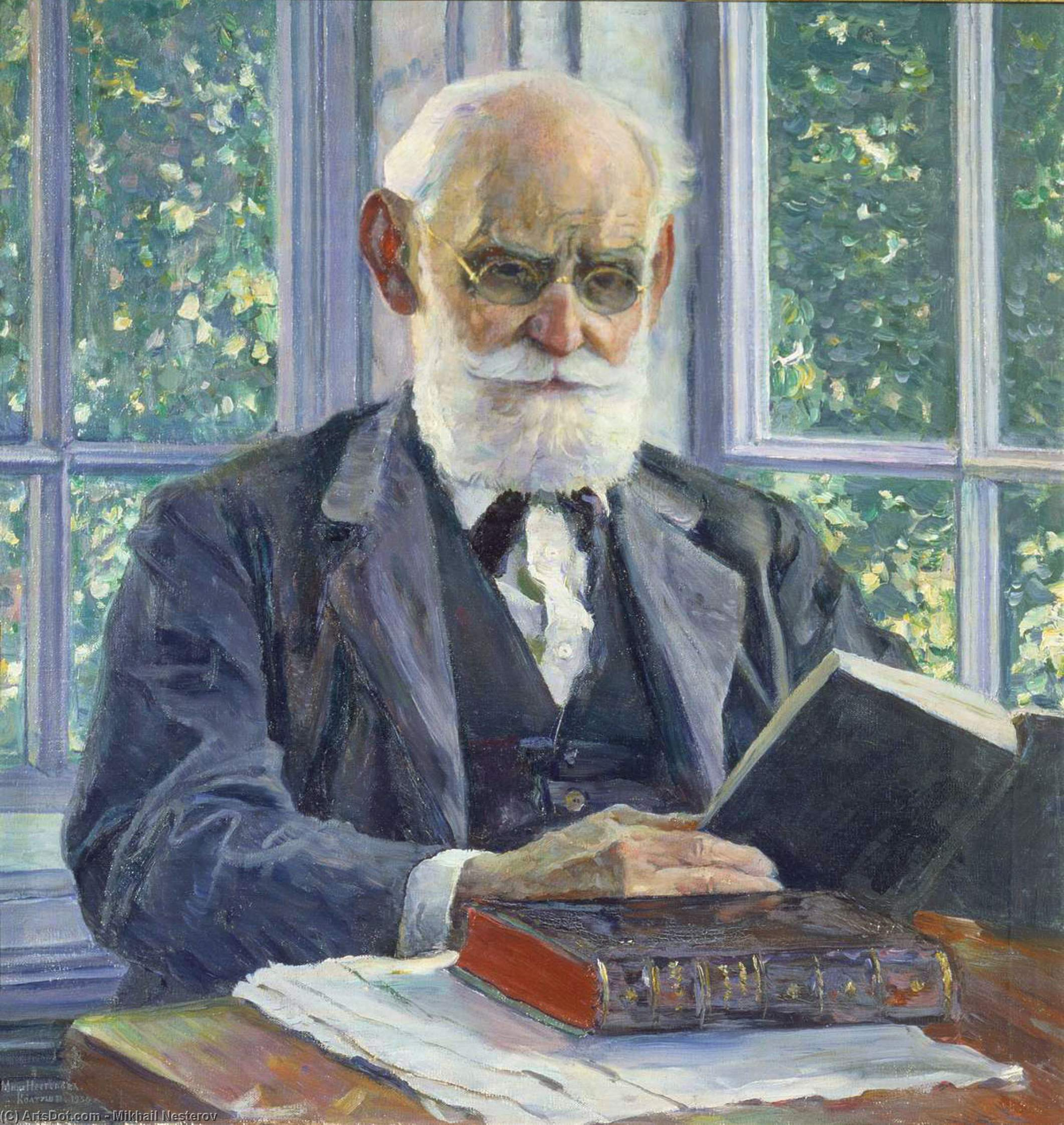 Portrait of Ivan Pavlov, Oil On Canvas by Mikhail Nesterov (1862-1942, Russia)