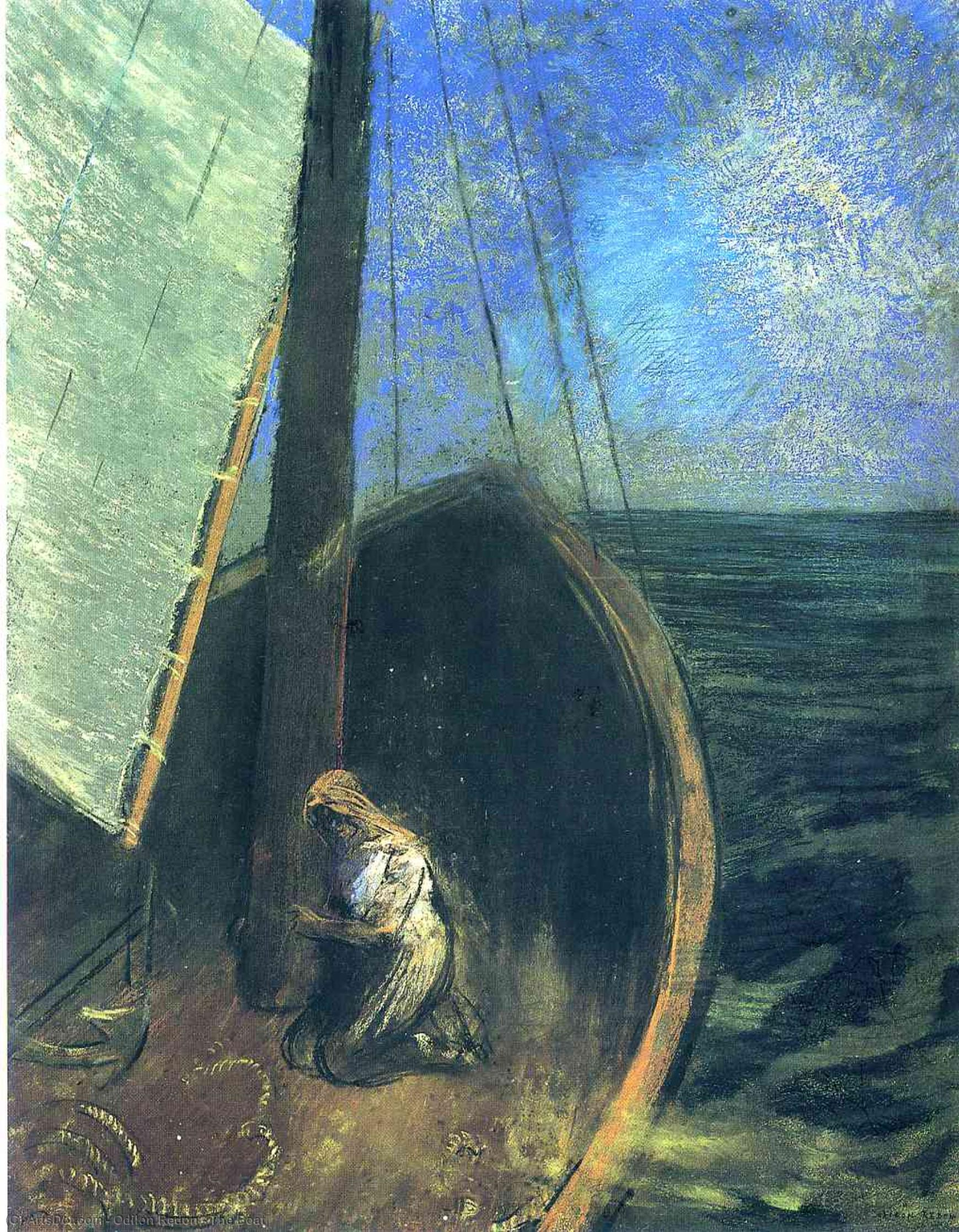 The Boat, 1902 by Odilon Redon (1840-1916, France) | Museum Art Reproductions | ArtsDot.com
