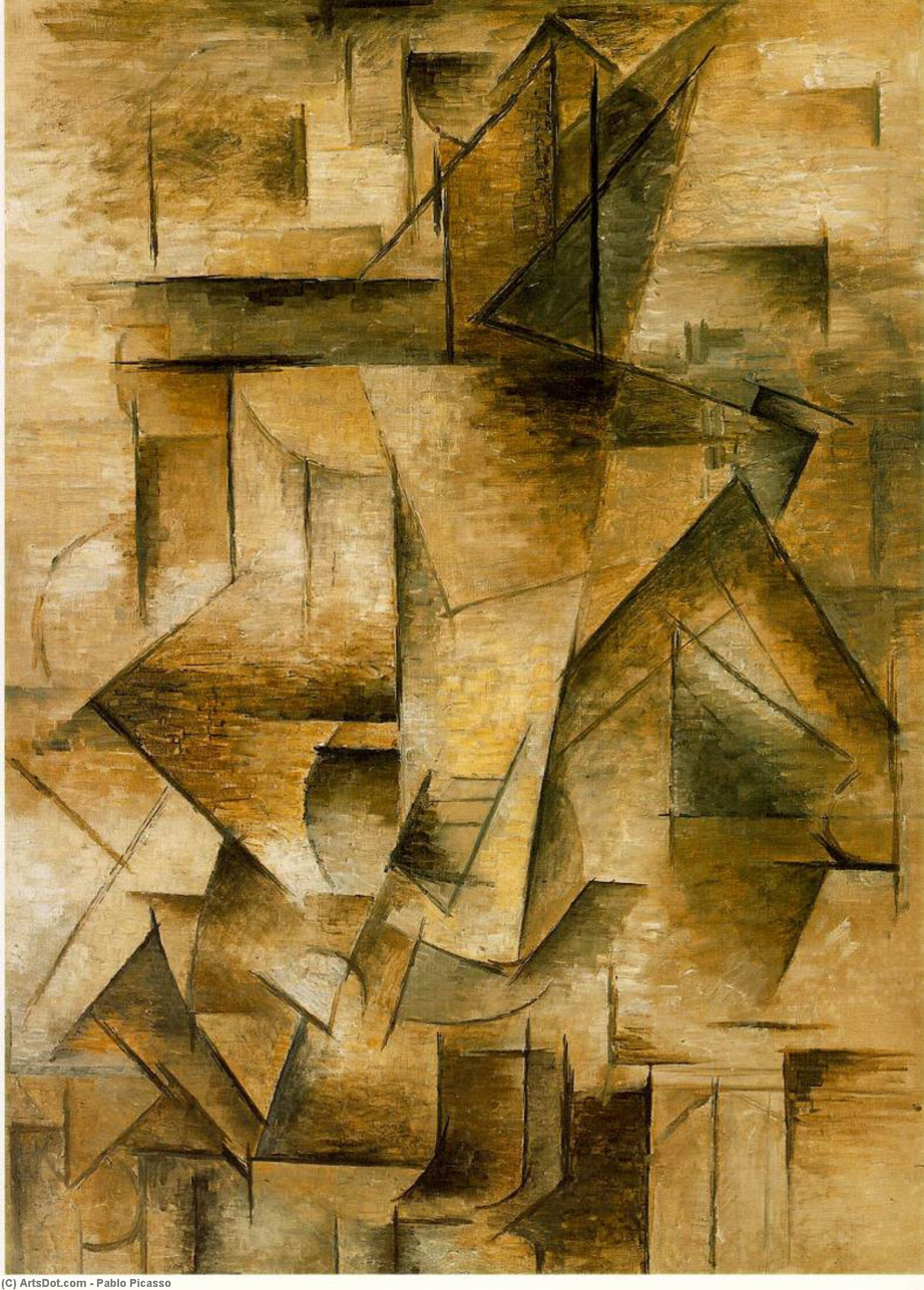 Guitar player, 1910 by Pablo Picasso (1881-1973, Spain) |  | ArtsDot.com