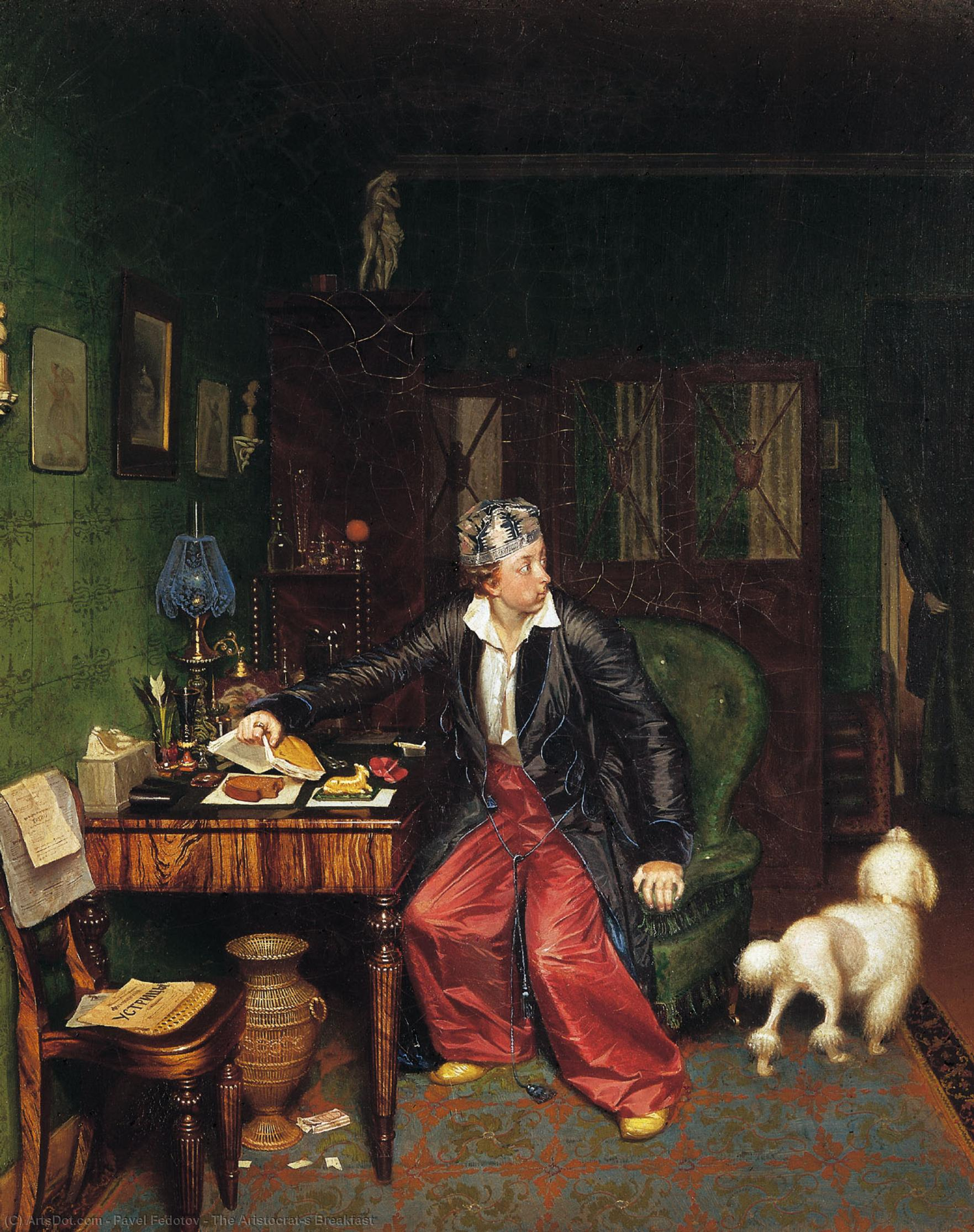 Buy Museum Art Reproductions : The Aristocrat`s Breakfast, 1850 by Pavel Fedotov (1815-1852) | ArtsDot.com